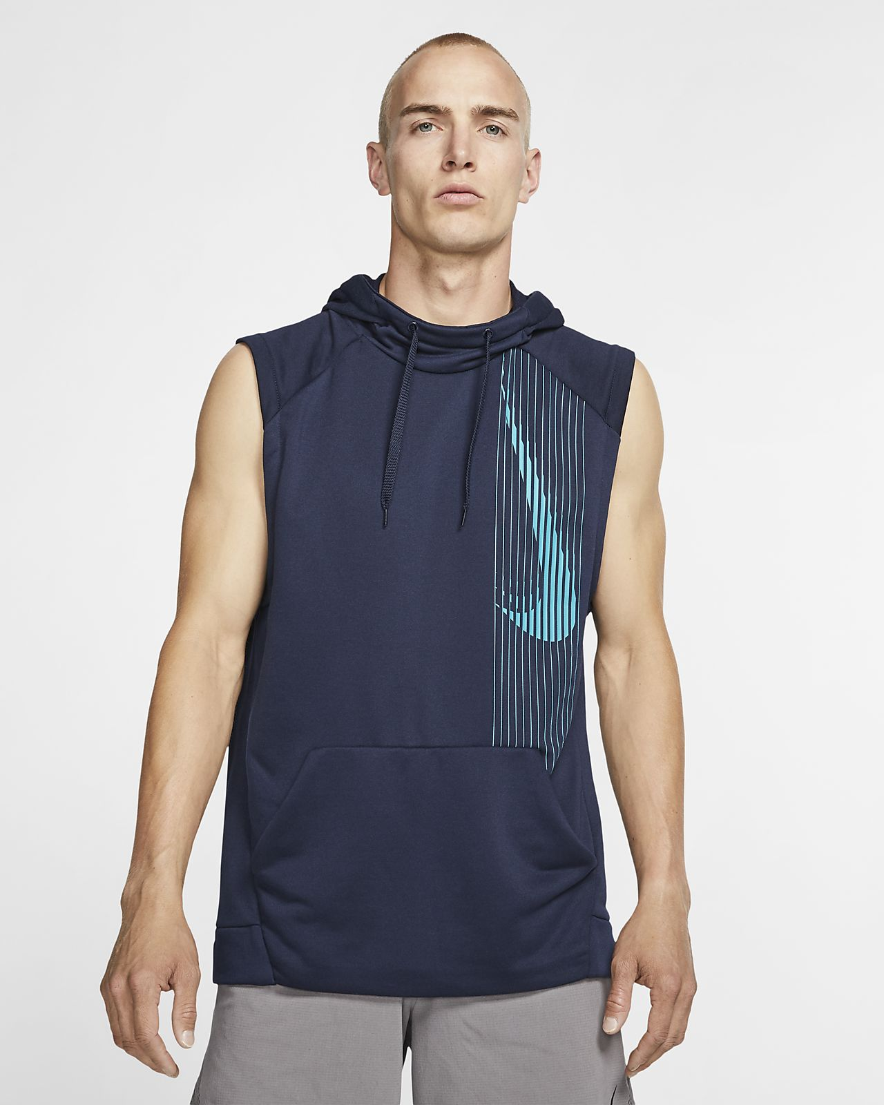 Sweat à capuche de training sans manches Nike Dri-FIT pour Homme