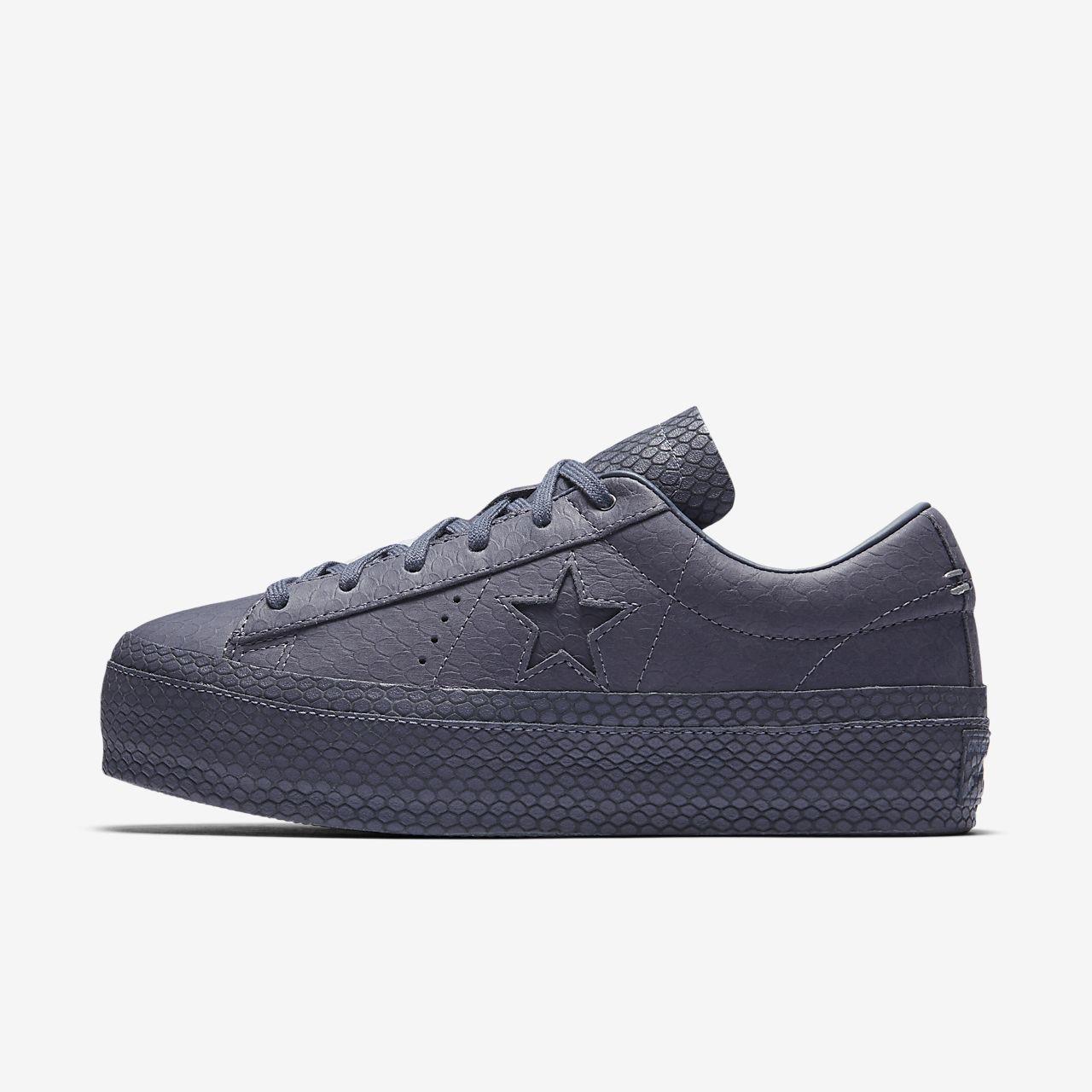 Converse One Star Platform Premium Leather Low Top Women's Shoe