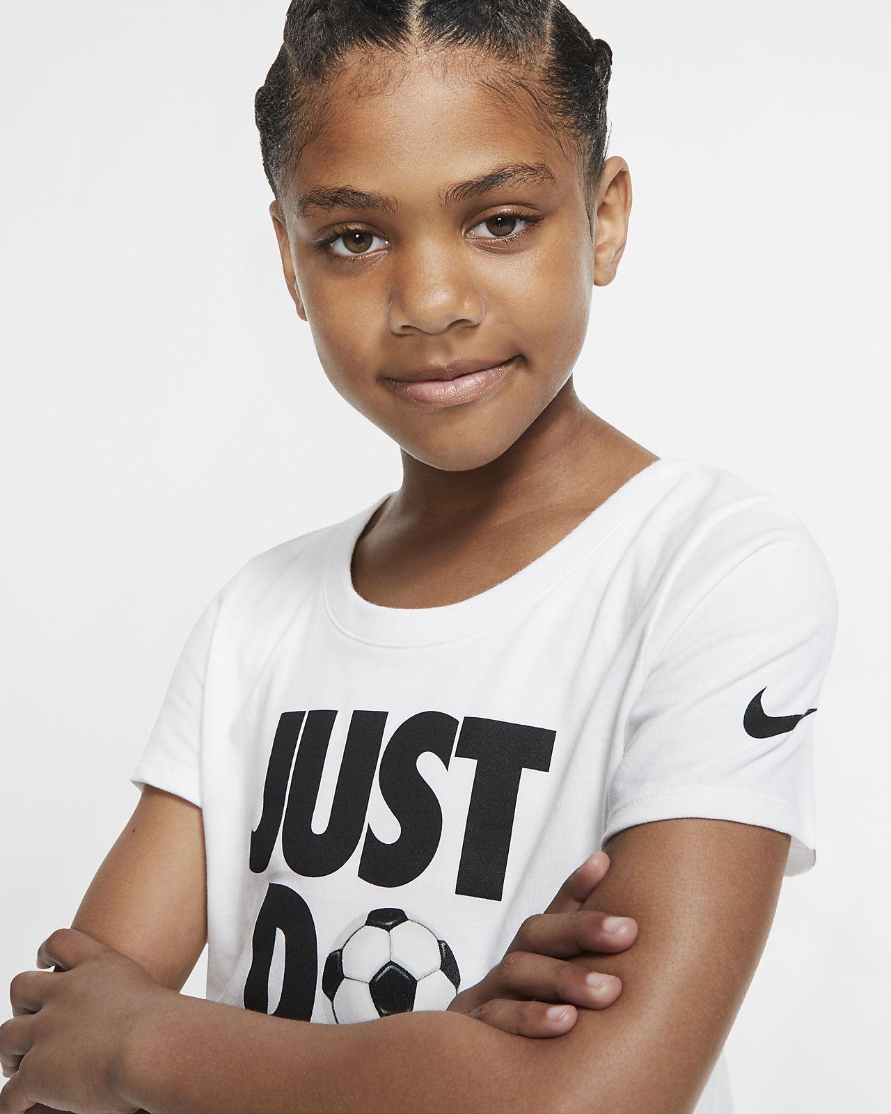 75d9a2b9 Nike Dri-FIT Big Kids' Just Do It Soccer T-Shirt. Nike.com