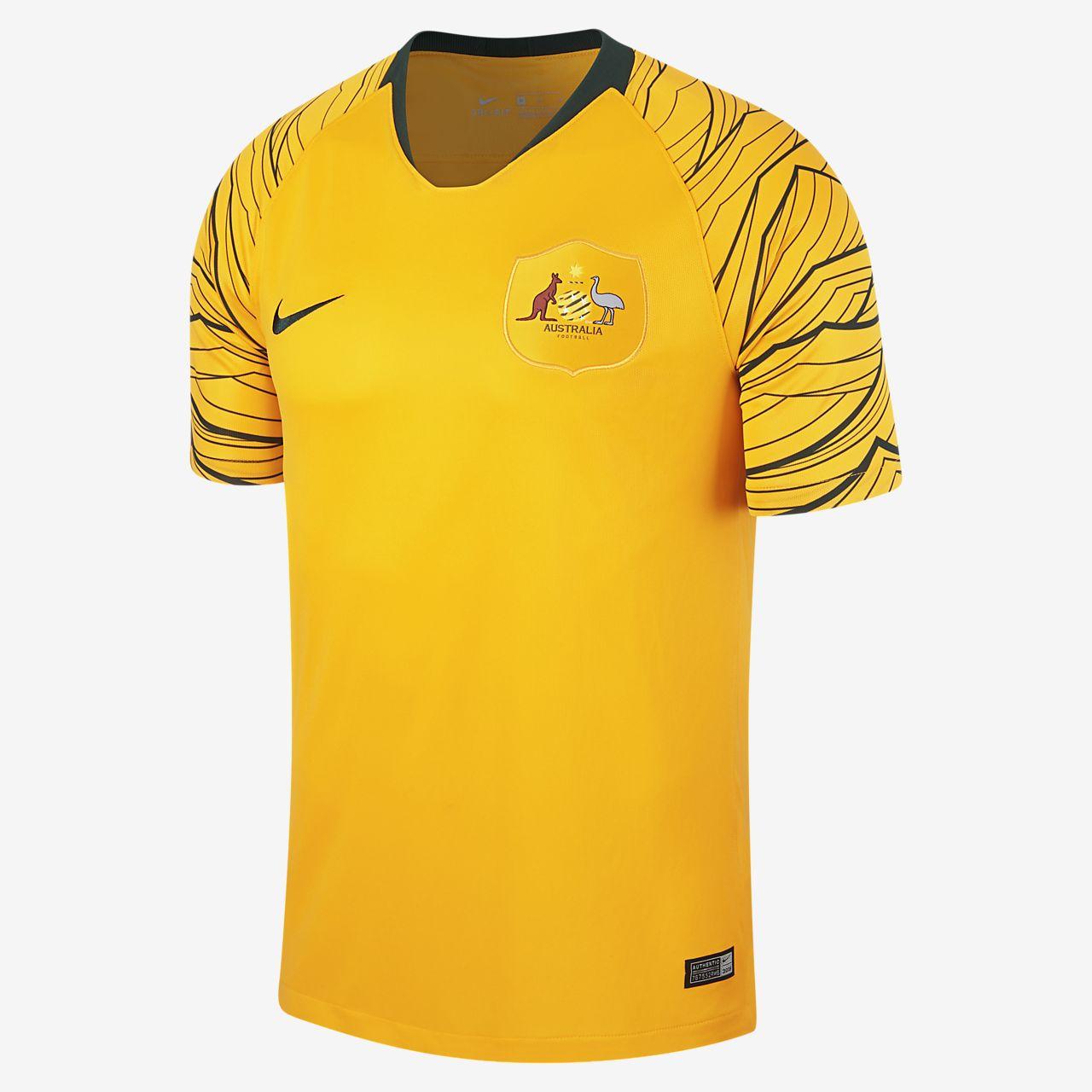 Camiseta de fútbol para hombre 2018 Australia Stadium Home. Nike.com CL a0c94774d58d3