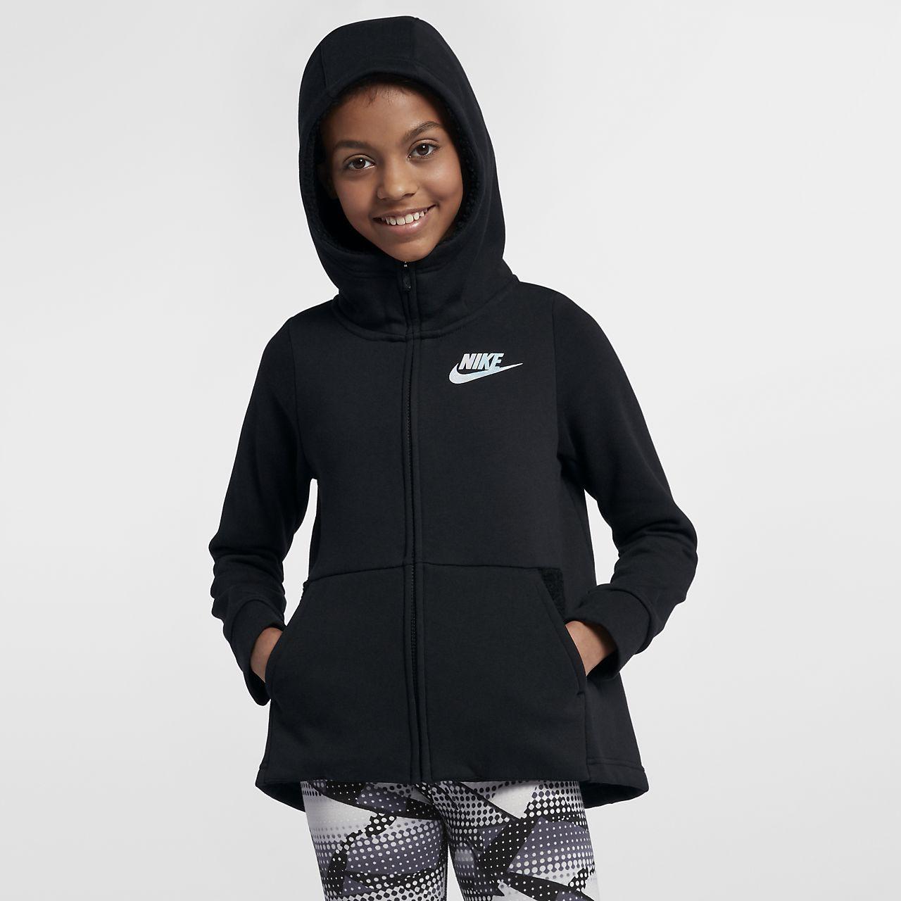 Con Grande Capucha Cierre Para De Nike Completo Niña Sudadera Talla Sportswear qUjVpLGSMz