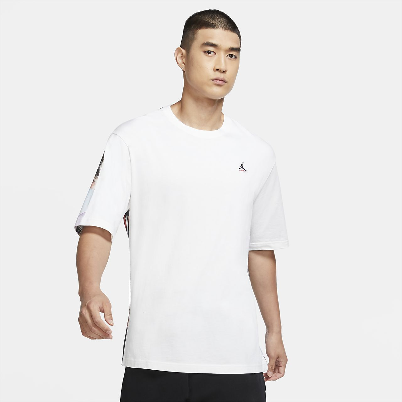Jordan Flight Fleece Graphic Men's Shorts Black/White