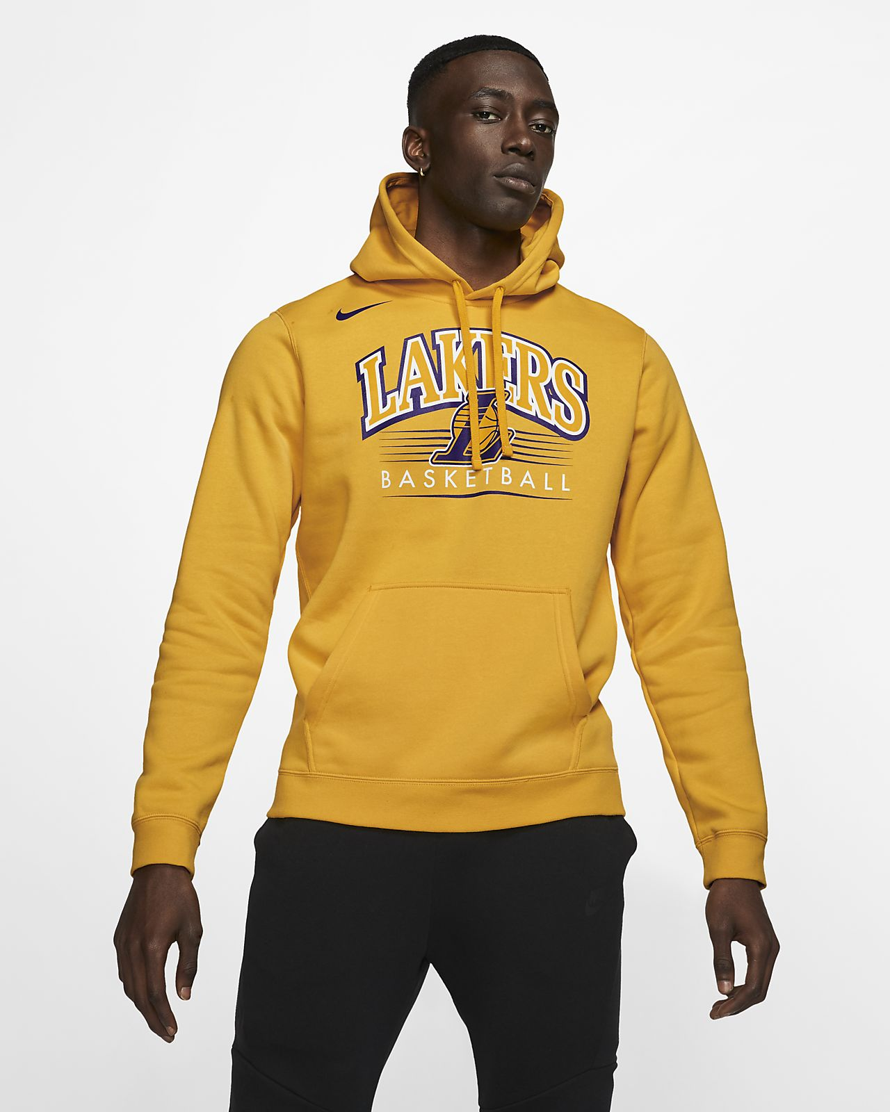 Los Angeles Lakers Nike NBA-hettegenser til herre