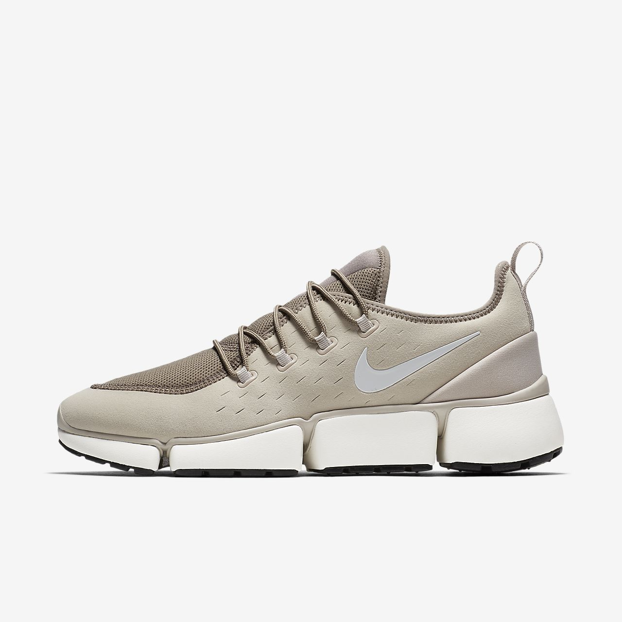 Nike Sportswear POCKET FLY - Trainers - desert sand/white/sepia stone/sail/black 4l1VjBTjQ