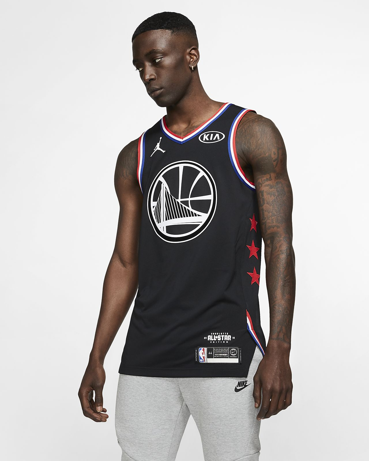 55ef393731b349 ... Stephen Curry All-Star Edition Authentic Men s Jordan NBA Connected  Jersey