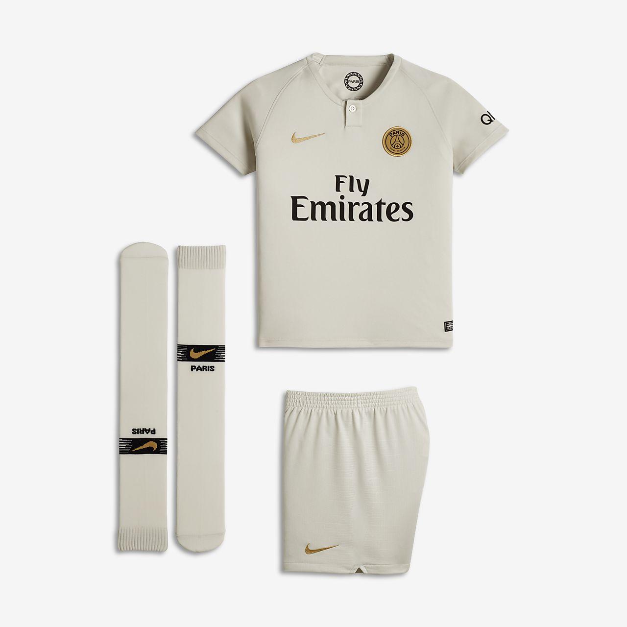 Kit de fútbol de visitante Stadium del Paris Saint-Germain 2018/19 para niños talla pequeña