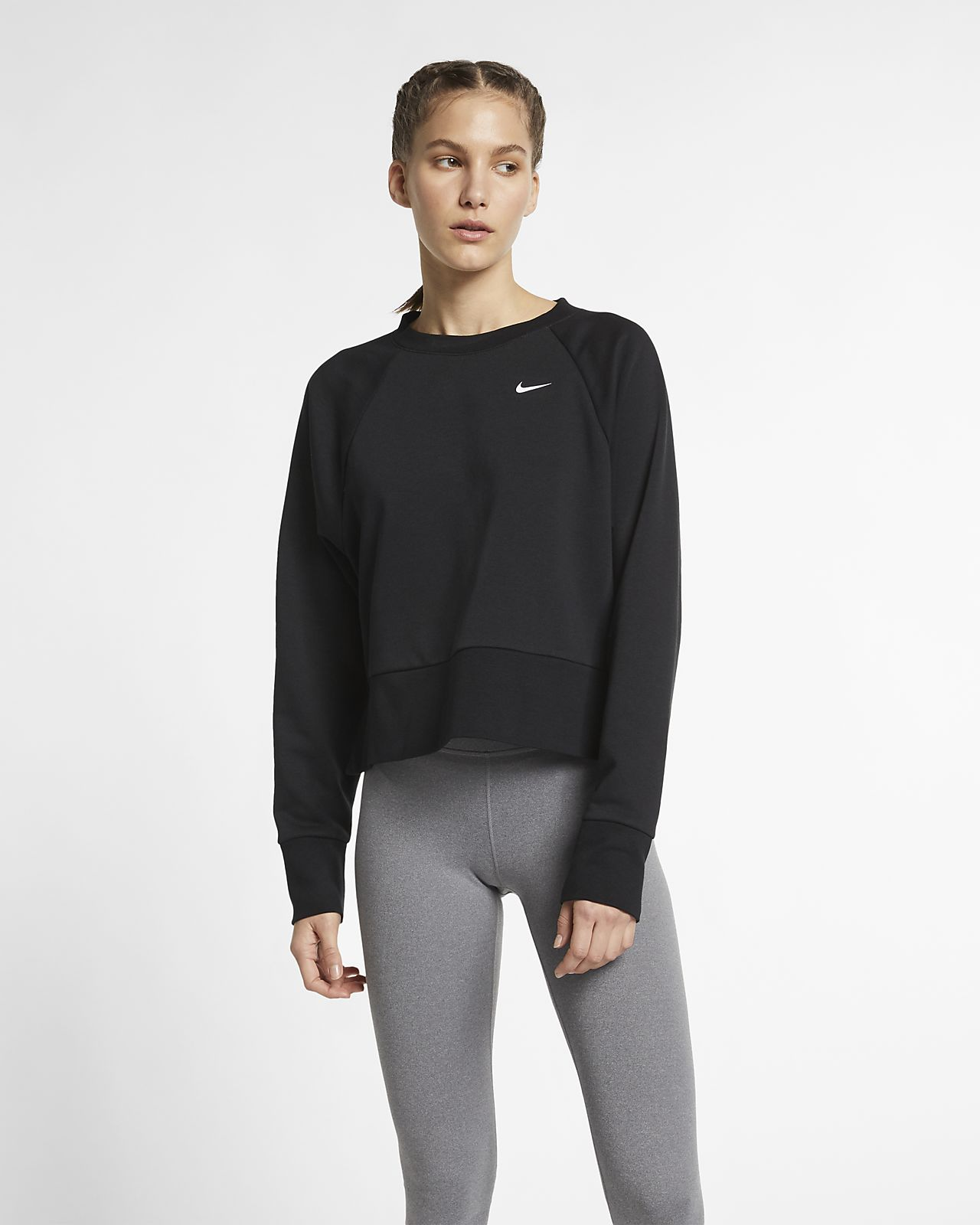 Nike Dri-FIT Yogatrainingstop met lange mouwen voor dames