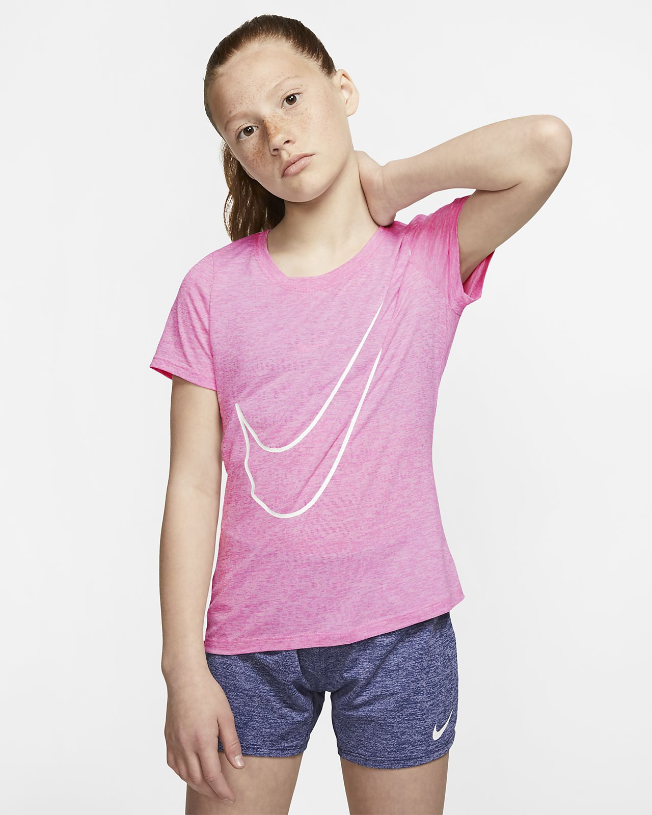 Nike Dri-FIT Victory Older Kids' (Girls') Short-Sleeve Training Top