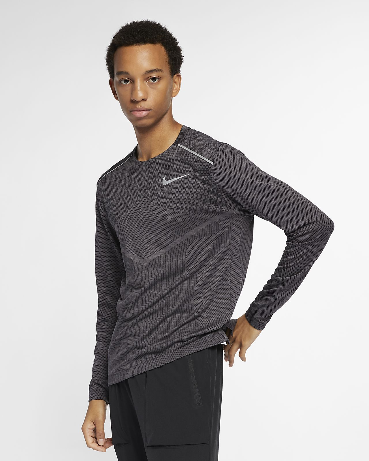 Мужская беговая футболка с длинным рукавом Nike TechKnit Ultra