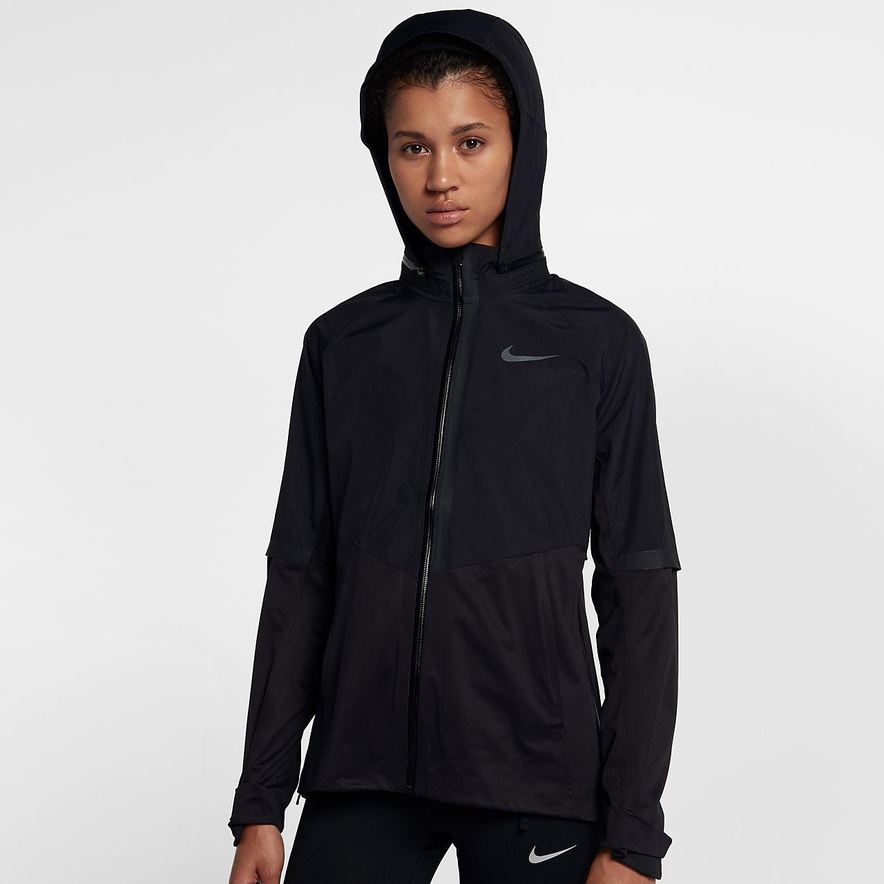 Womens black nike rain jacket