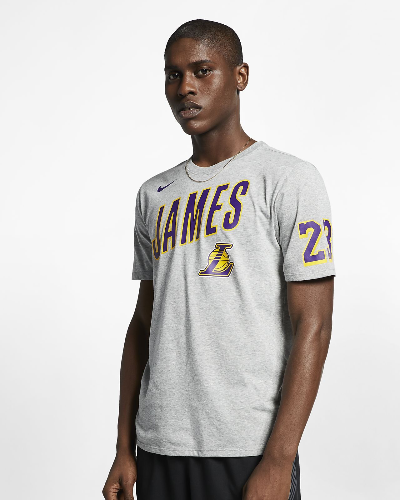 Los Angeles Lakers Nike Dri-FIT NBA-herenshirt