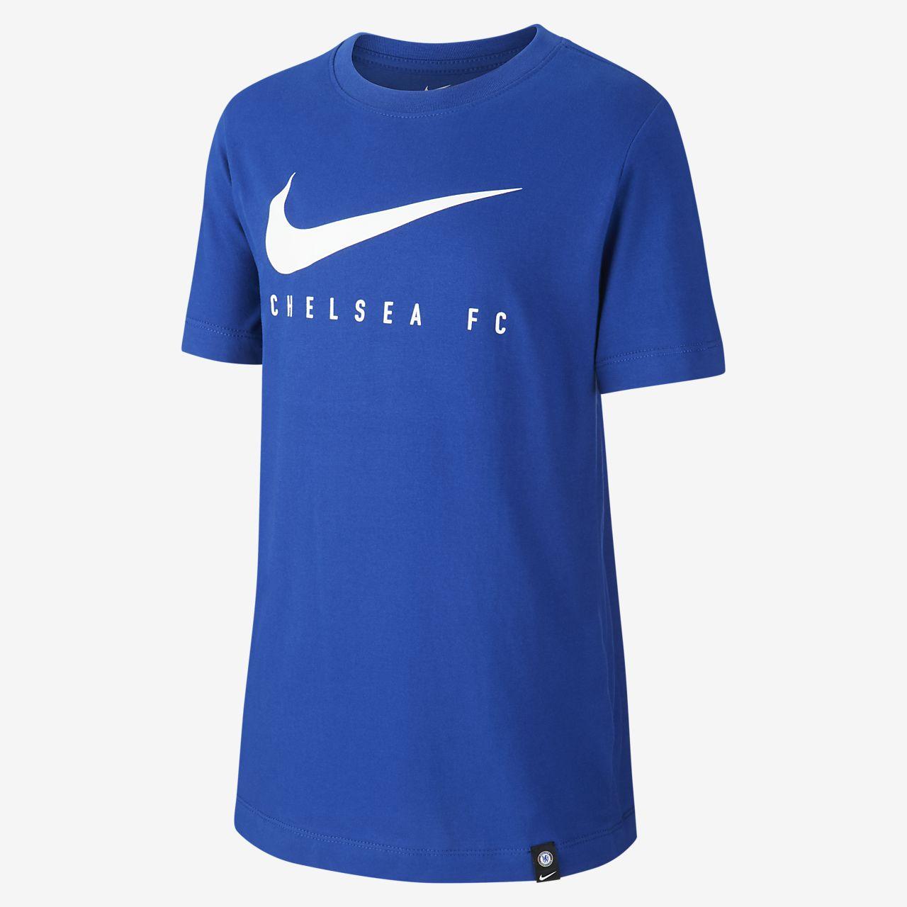 Tee-shirt de football Nike Dri-FIT Chelsea FC pour Enfant plus âgé