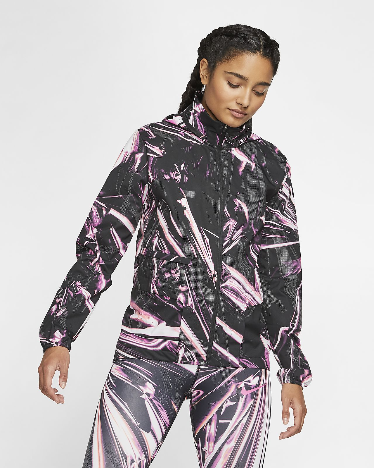 Nike Shield 女子全长拉链跑步夹克
