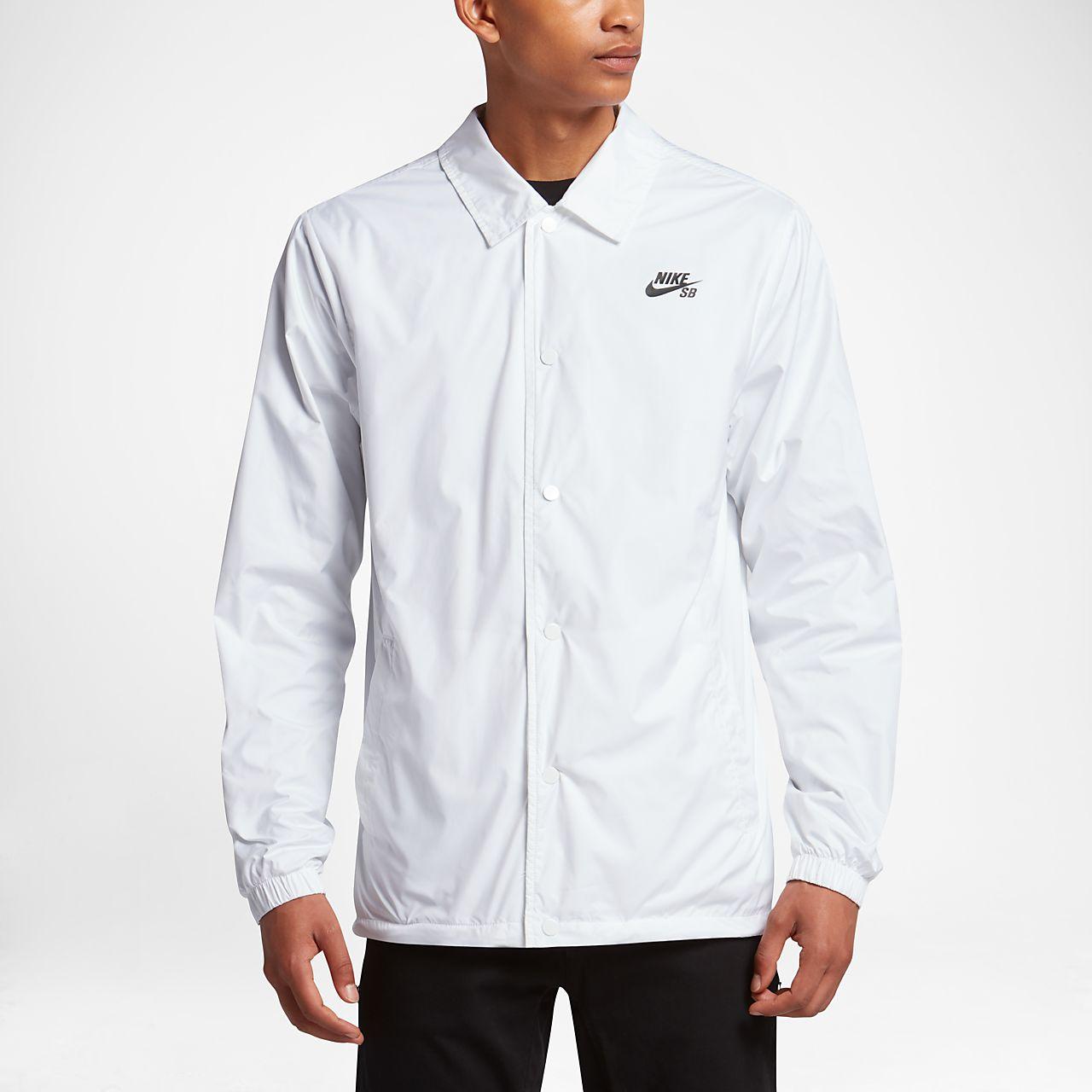Nike SB Shield Coaches Men's Jackets White/Anthracite