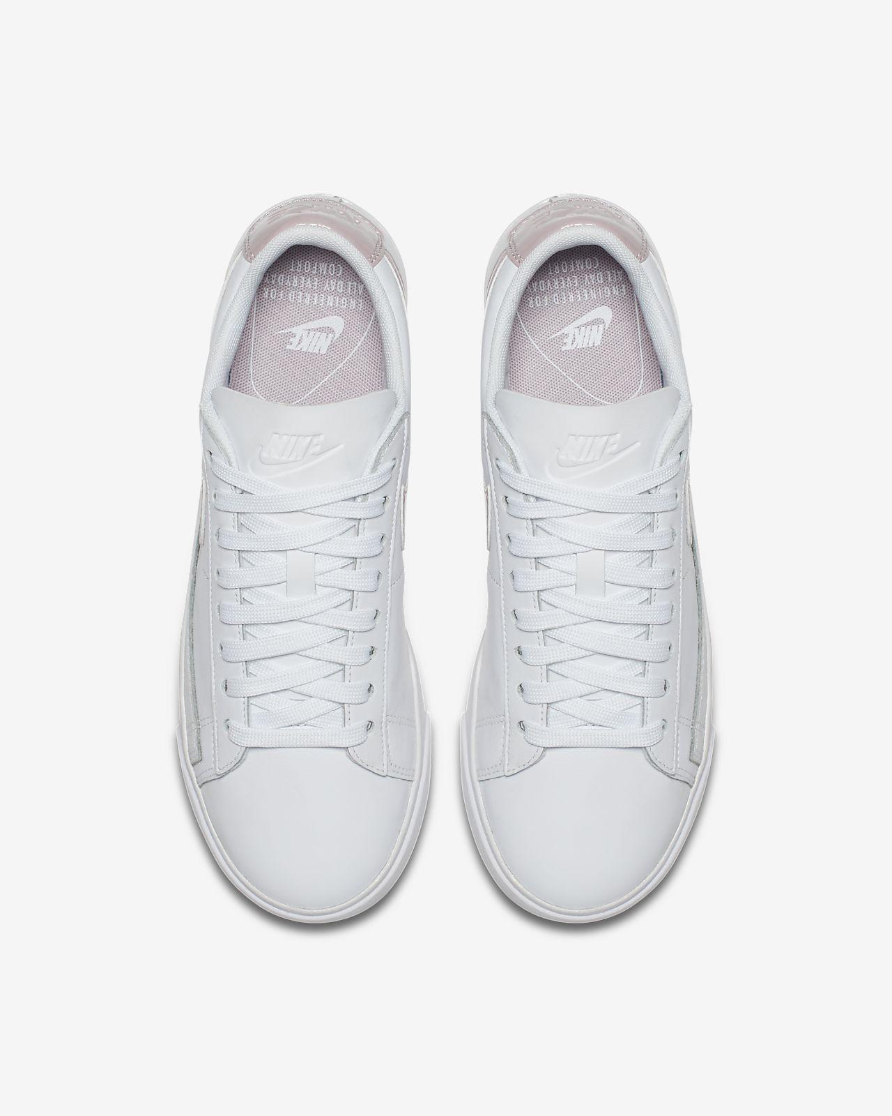 8fa4a946c ... premium black wholly black denmark nike blazer low le womens shoe 89f35  3b21c ...