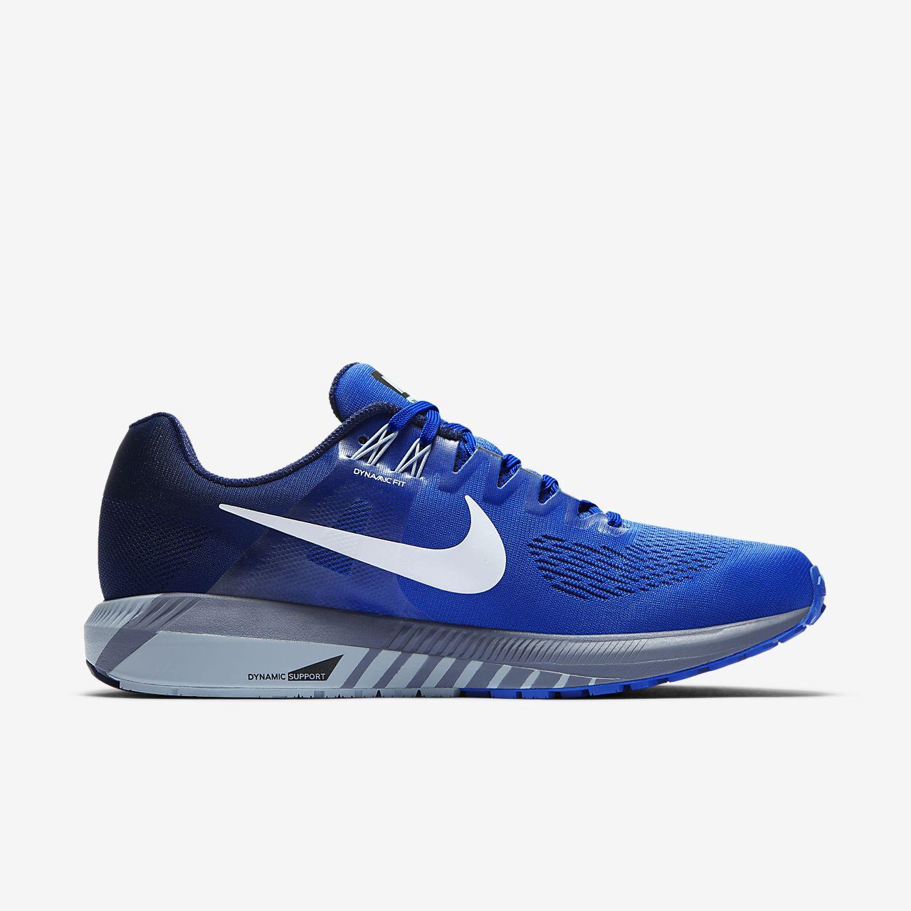 Nike Air Zoom Structure 21, Chaussures de Running Homme, Bleu (Bleu Méga/Bleu Binaire/Bleu Arsenal Clair/Blanc), 40 EU