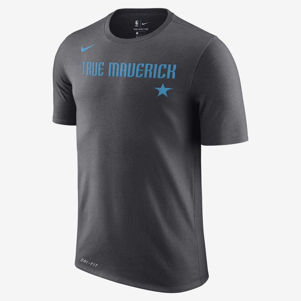 NBA-t-shirt Dallas Mavericks City Edition Nike Dri-FIT för män