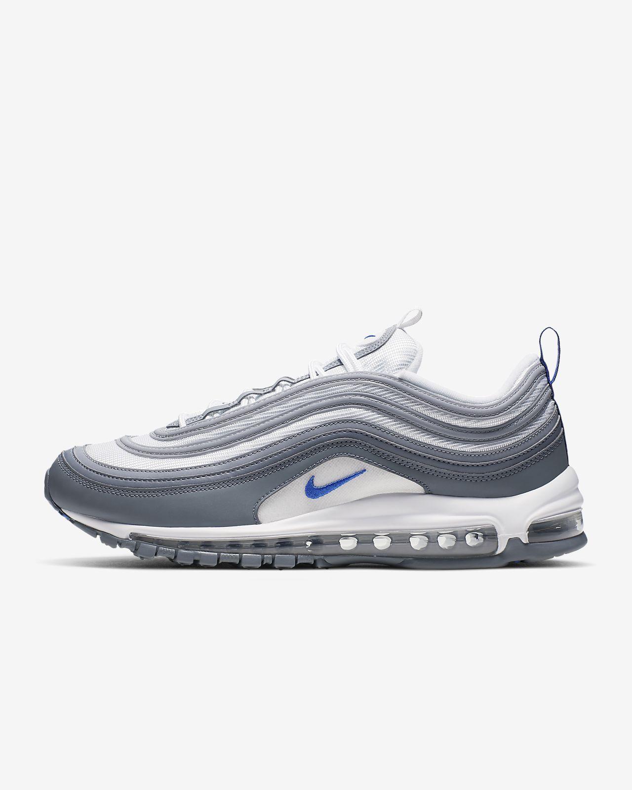 Nike Air Max 97 WhiteHyper Royal Cool Grey Mens Shoes