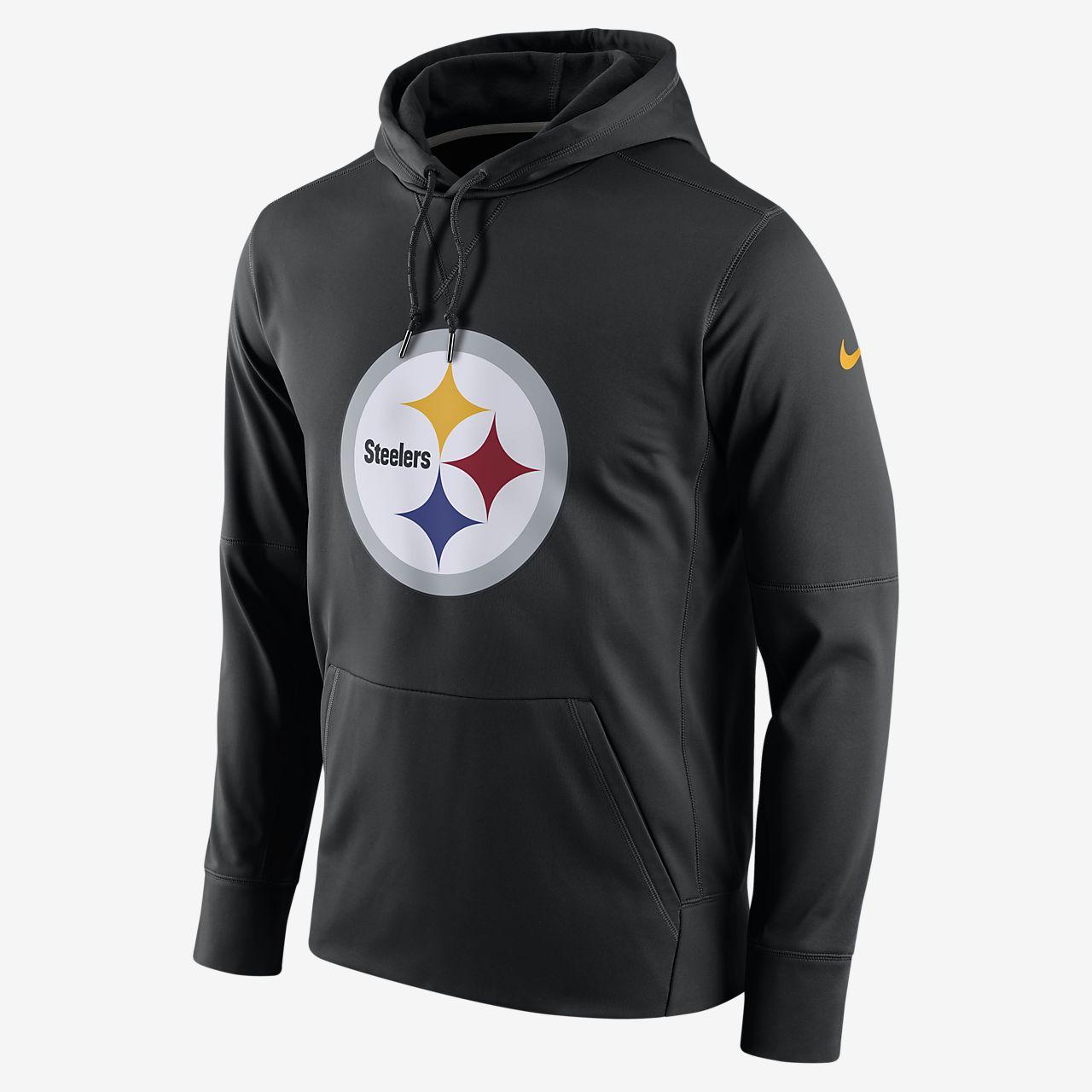 Nike Circuit Logo Essential (NFL Steelers) kapucnis, belebújós férfipulóver
