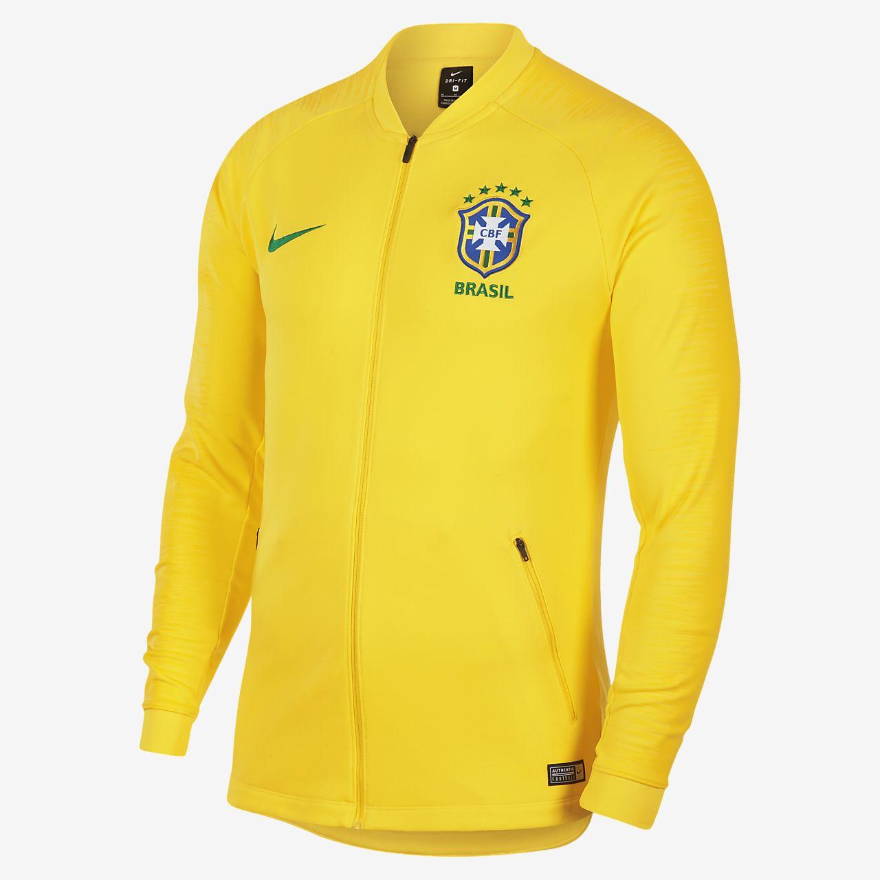 Brasilien CBF Anthem Herren-Fußballjacke