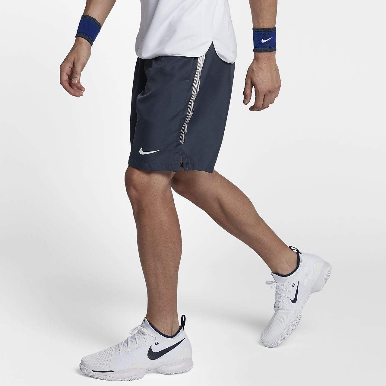 กางเกงเทนนิสขาสั้น 9 นิ้วผู้ชาย NikeCourt Dri-FIT