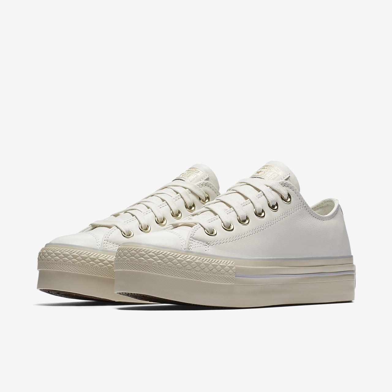 converse beige leather