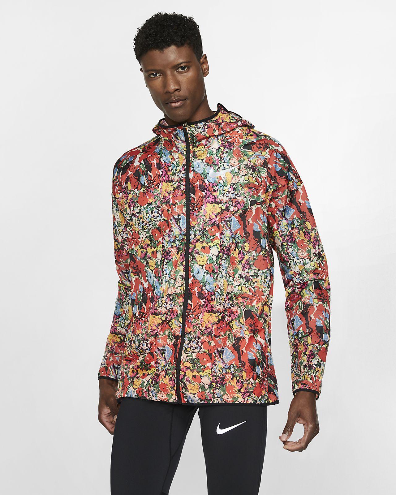 Nike Windrunner-løbejakke med print til mænd