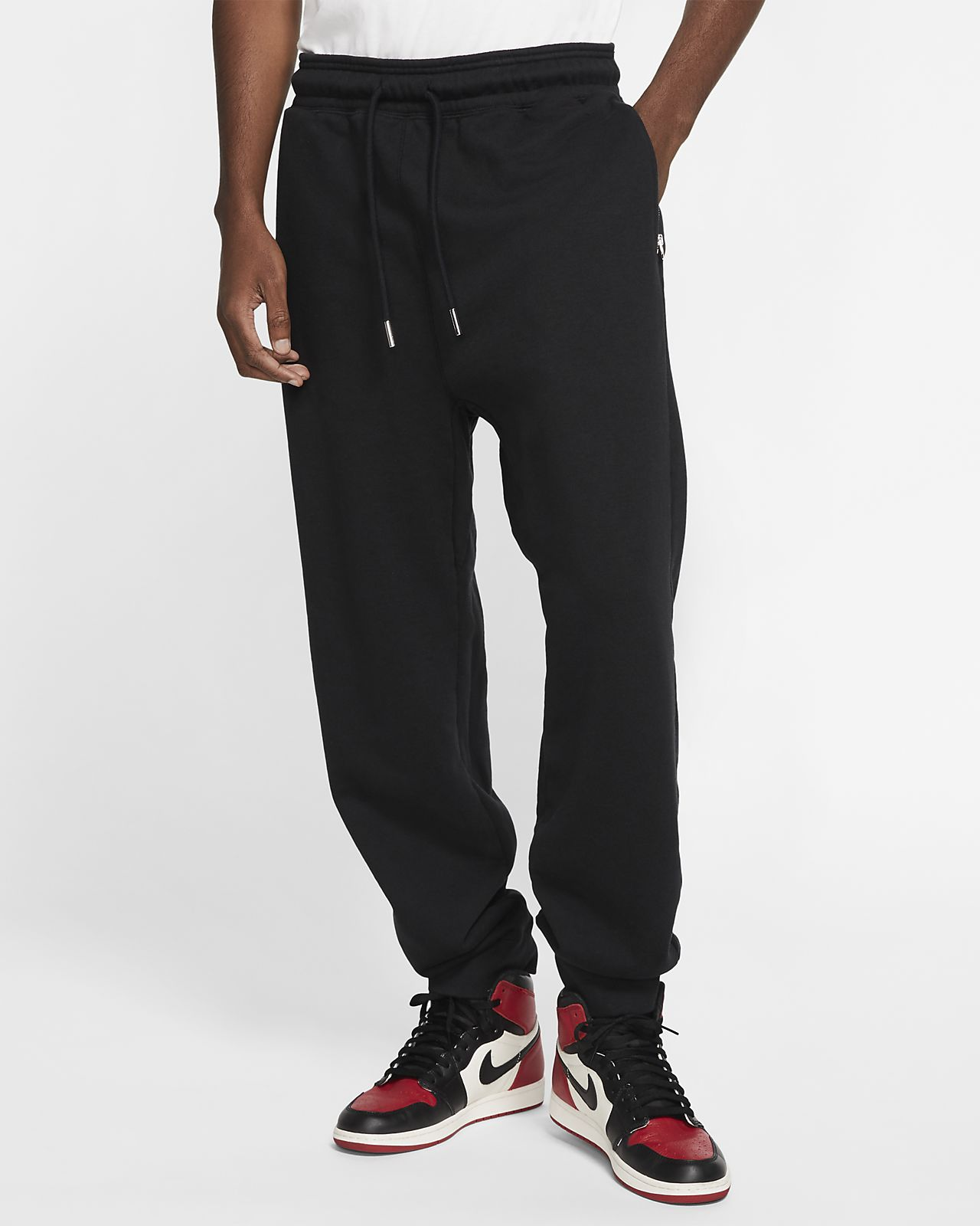 Jordan Black Cat Fleece Trousers