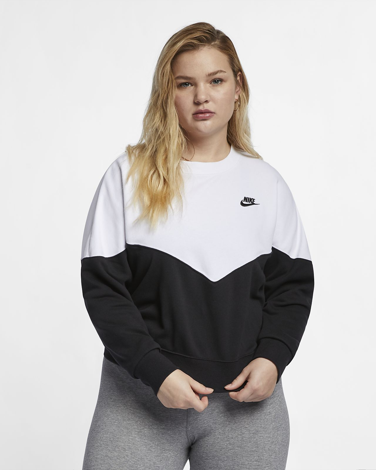 Maglia a girocollo in fleece Nike Sportswear Heritage - Donna (Plus Size)