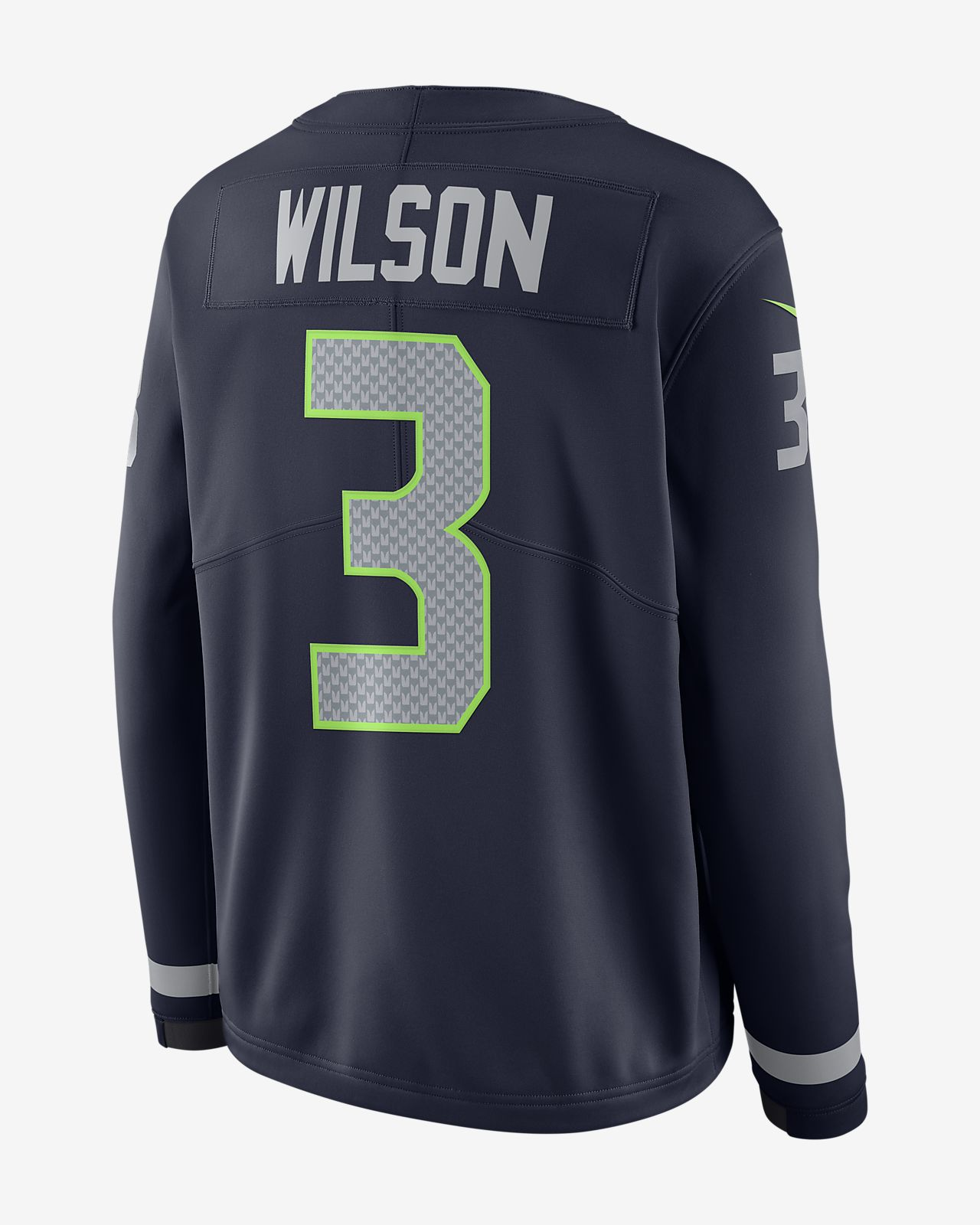 New NFL Seattle Seahawks Jersey (Russell Wilson) Women's Long Sleeve  hot sale