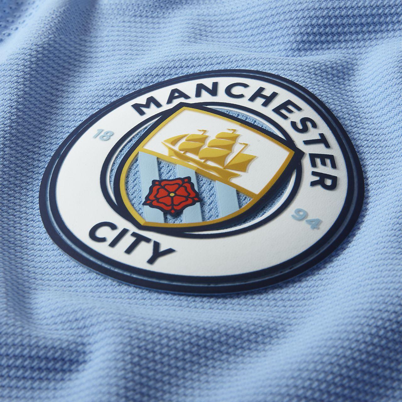 Delapan Manchester City Fc Vapor Match Home Mens Football Shirt