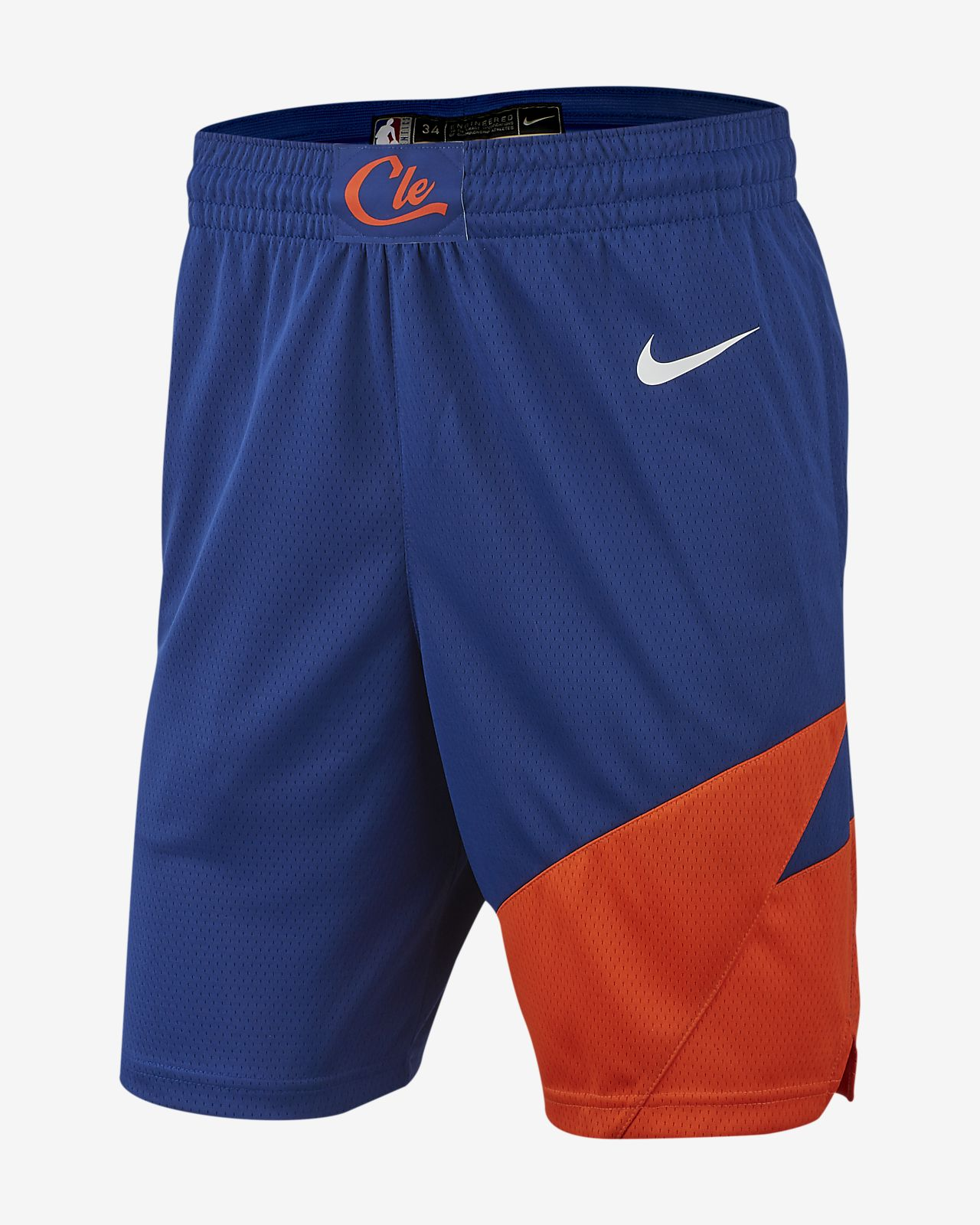Calções NBA Nike Cleveland Cavaliers City Edition Swingman para homem