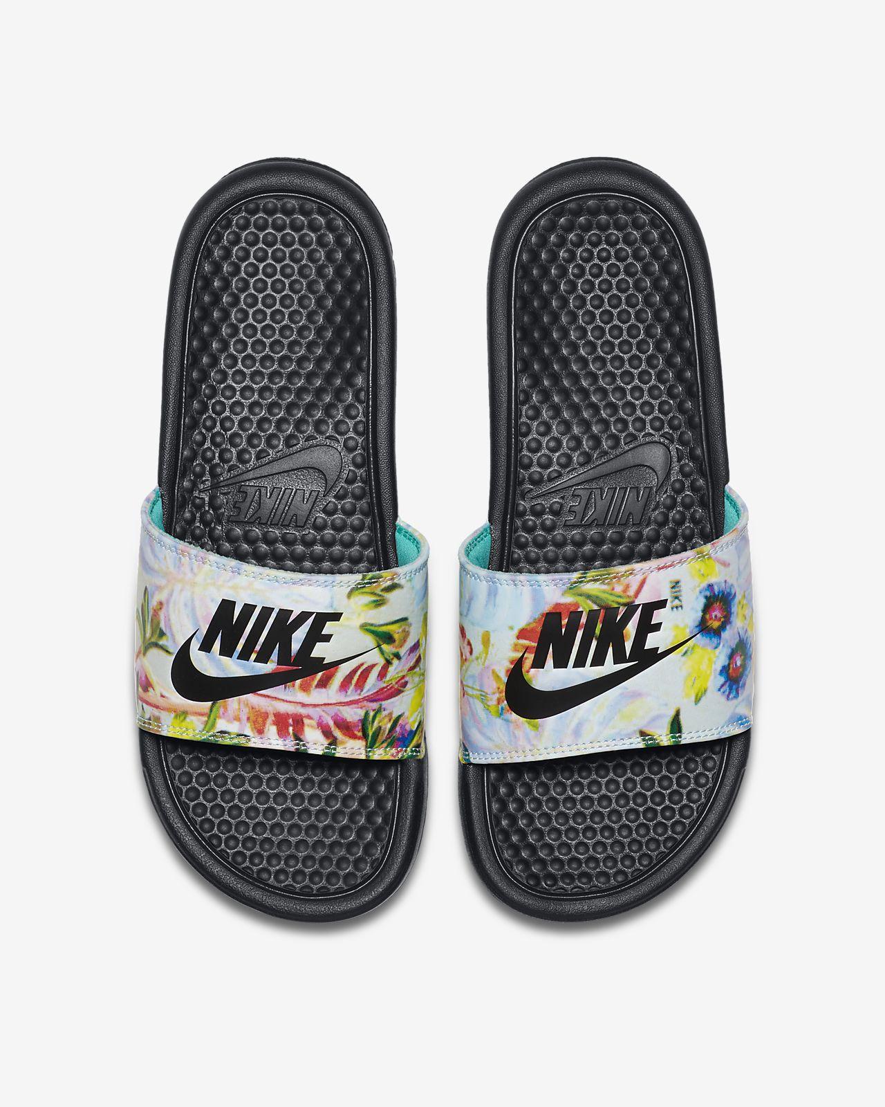 Nike Benassi JDI Floral Chanclas Mujer