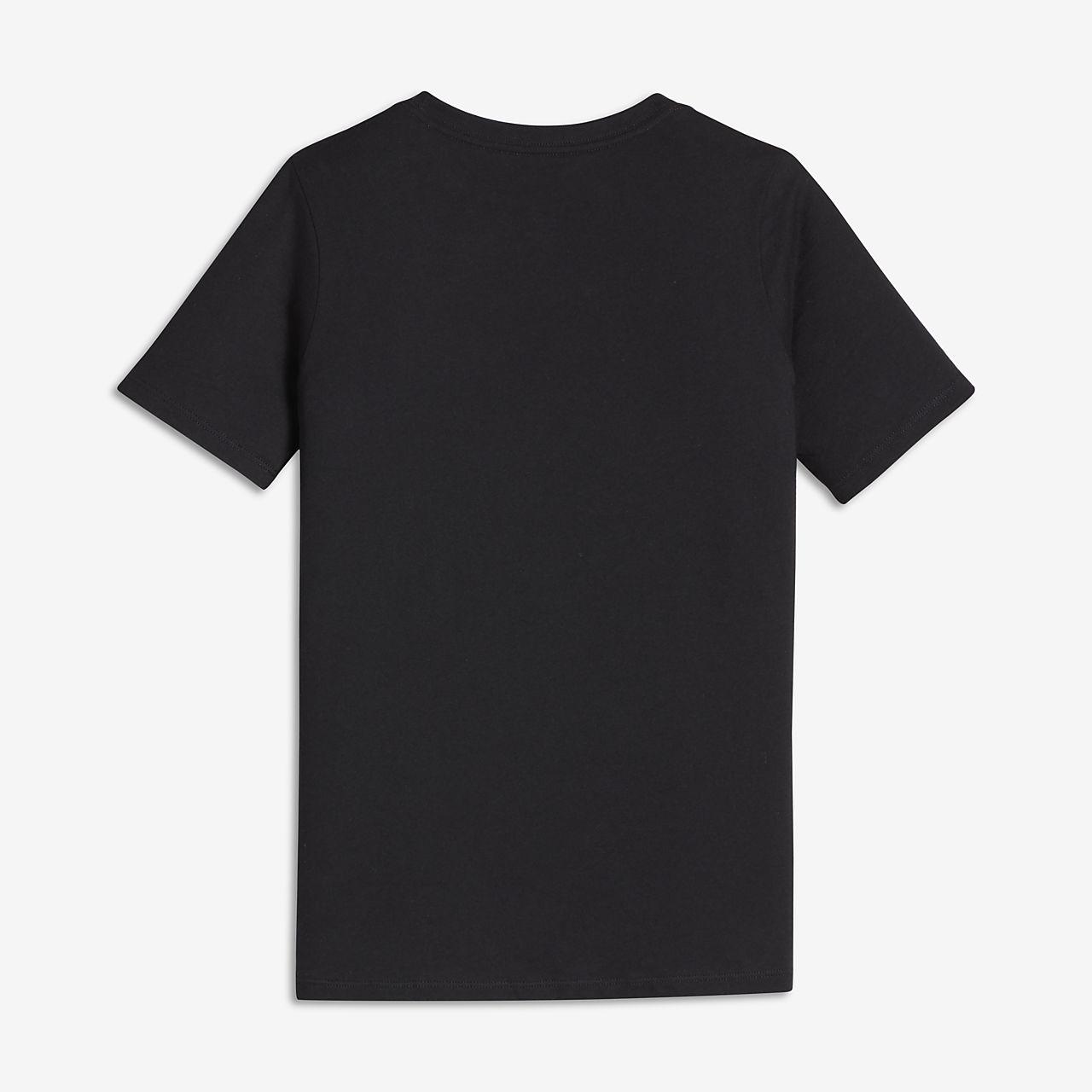 Nike Dry Big Kids' Running Tops Black/White