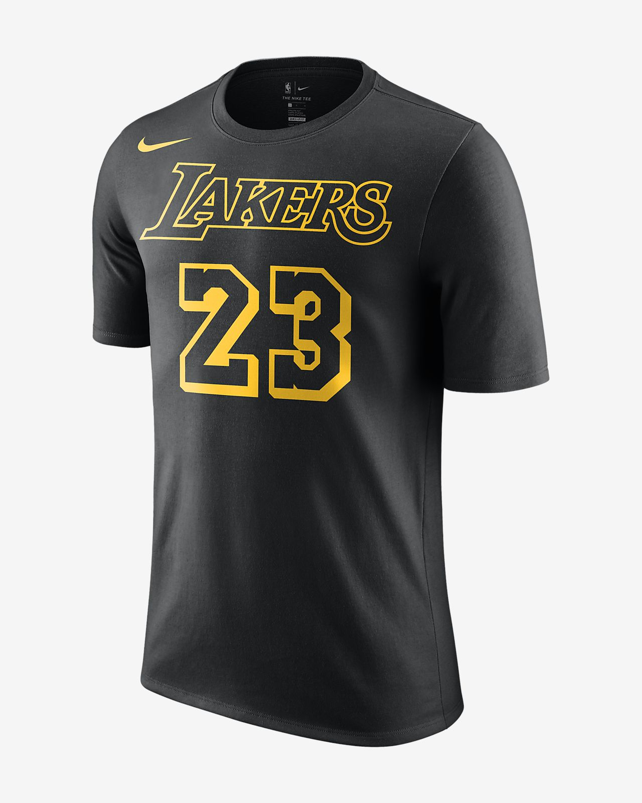 e027343b74d ... Los Angeles Lakers Icon Name and Number (LeBron James) Big Kids  NBA T