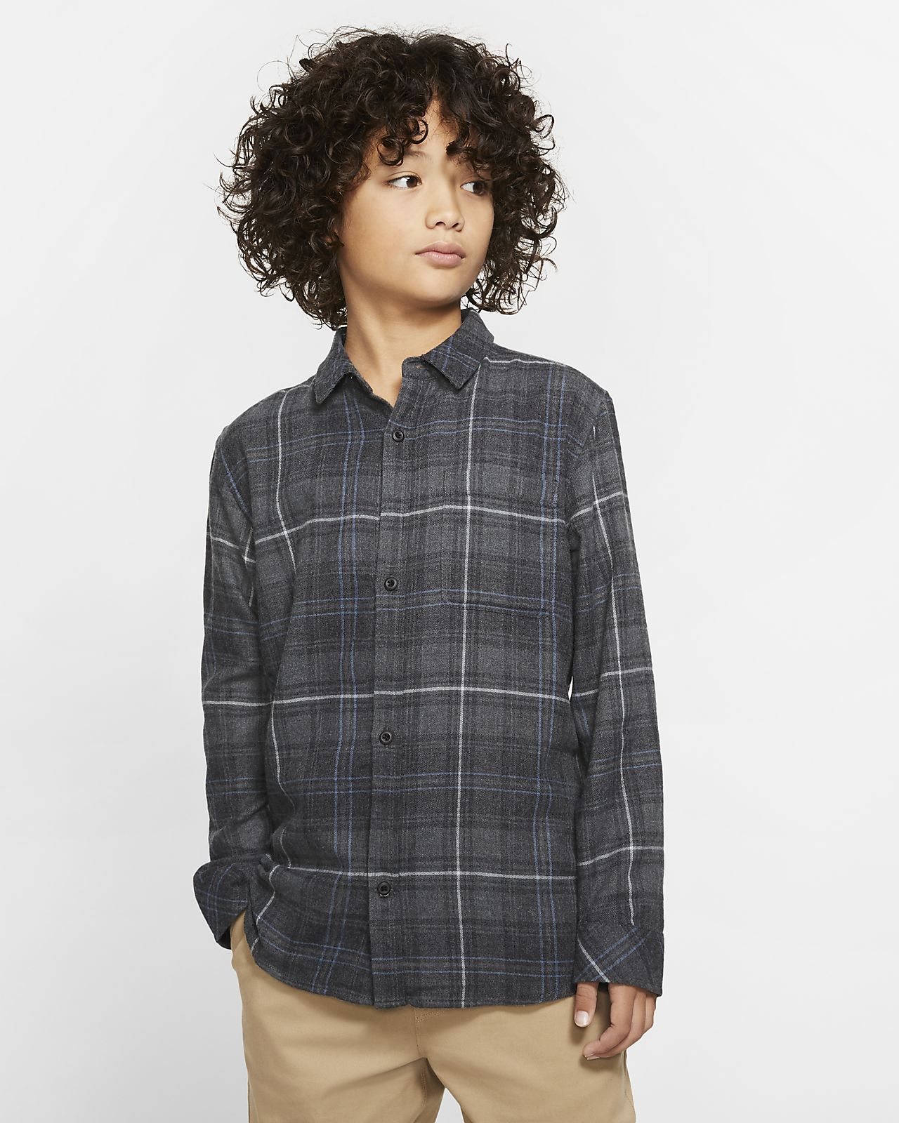 Hurley Vedder Washed Boys' Long-Sleeve Shirt