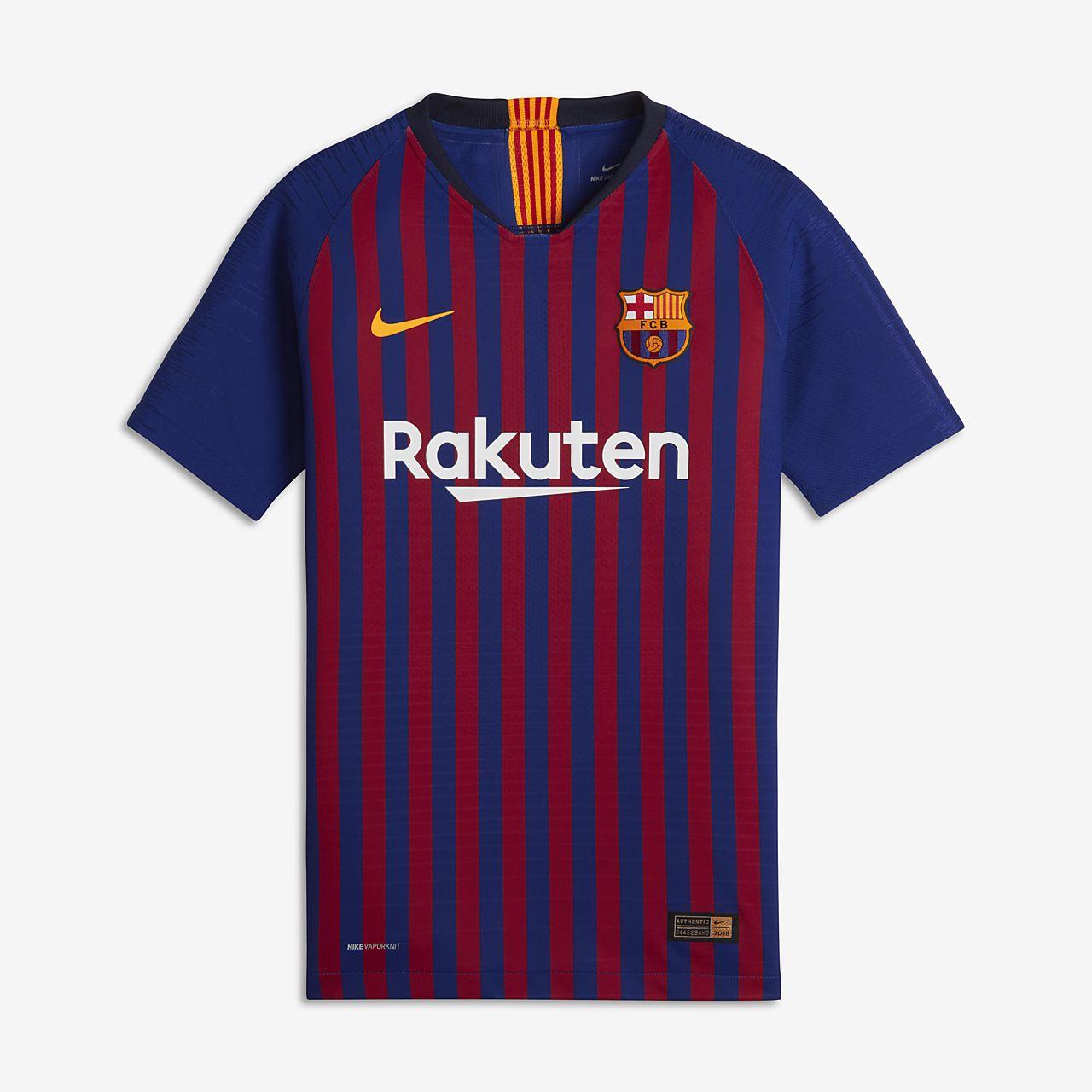 ... Camiseta de fútbol para niños talla grande de local Vapor Match del FC  Barcelona 2018  7f7a531bd66