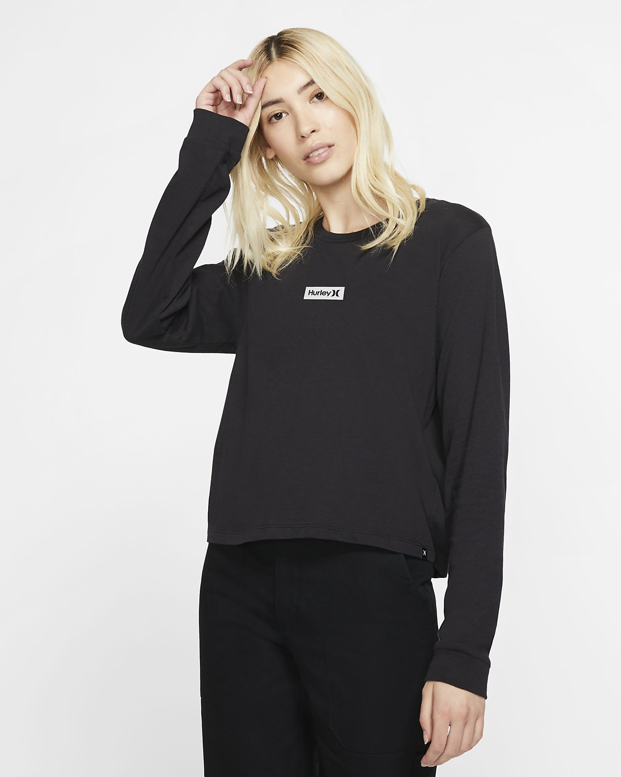 Hurley One And Only Box Perfect Women's Long-Sleeve T-Shirt