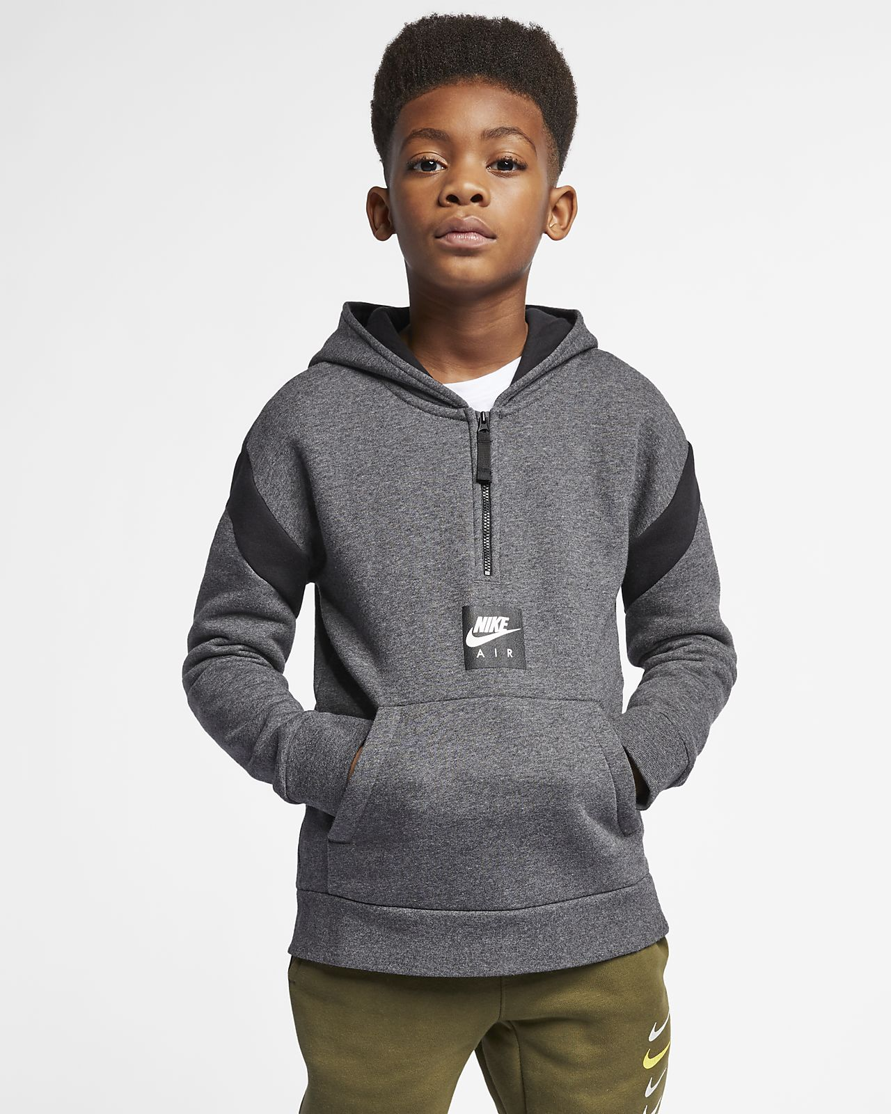 f5f32f3a683f Nike Air Older Kids  (Boys ) Half-Zip Hoodie. Nike.com GB