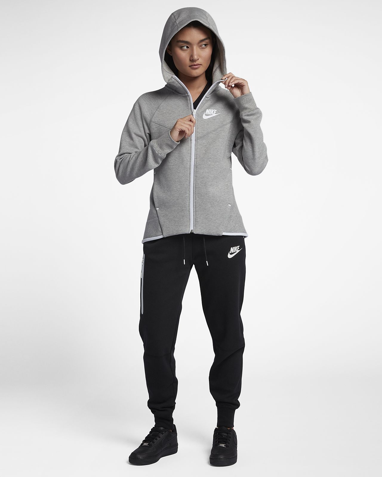 Nike Sportswear Tech Fleece Windrunner Damen Hoodie mit durchgehendem Reißverschluss