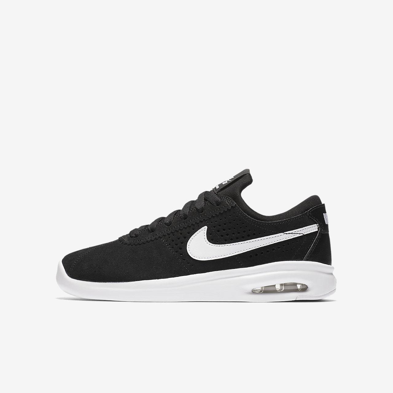 Nike SB Stefan Janoski Max Boys Skateboarding Shoes Black/White aC1312T