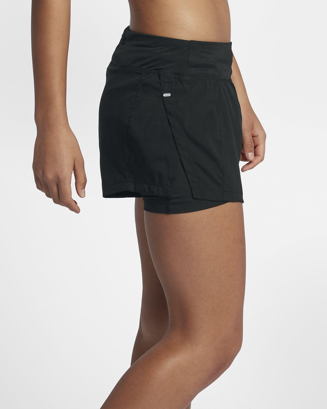 the best attitude 40c3f 86759 ... Nike Eclipse 2-in-1-Laufshorts für Damen