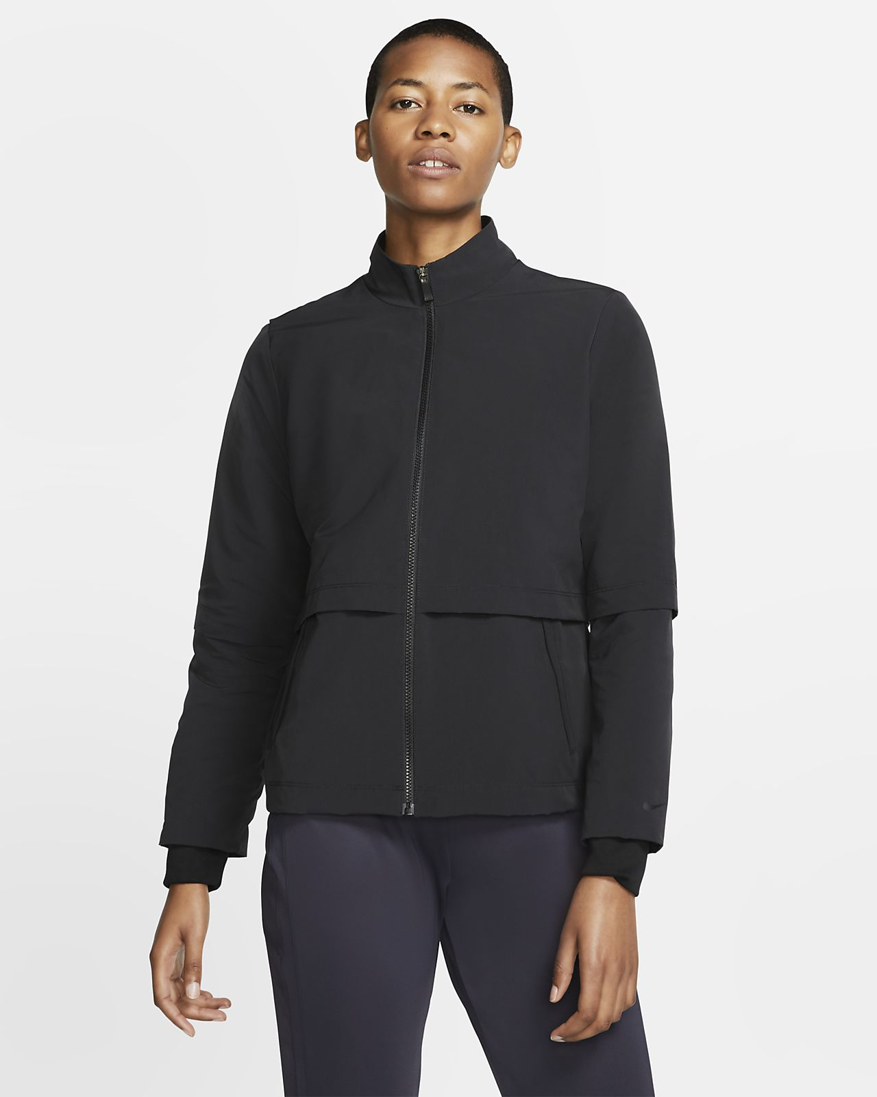 Chamarra de golf para mujer Nike Shield
