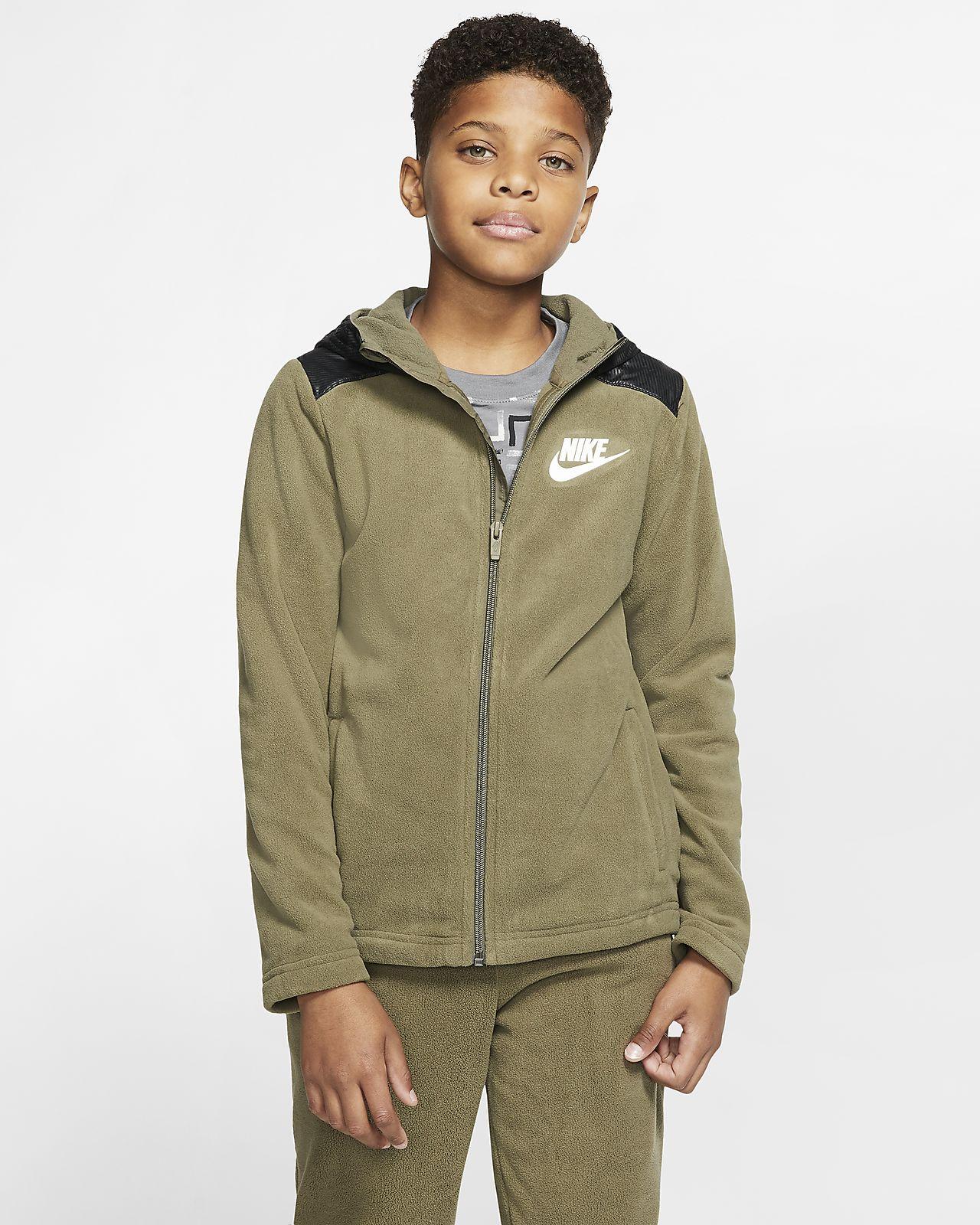 Hoodie com fecho completo Nike Sportswear Winterized Júnior (Rapaz)