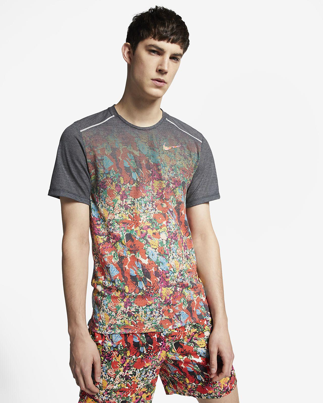 Nike Rise 365 男款短袖印花跑步上衣