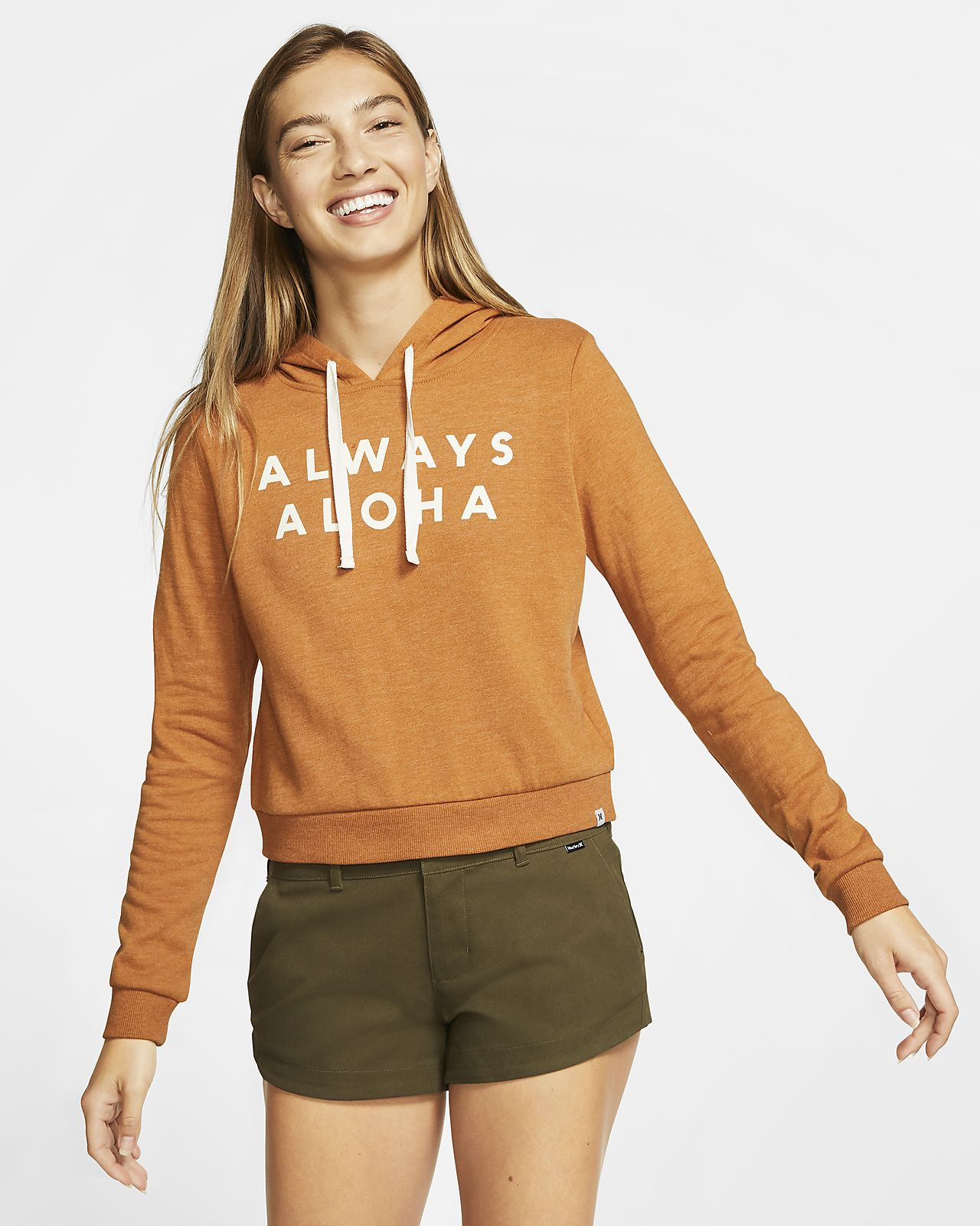 Hurley Destination Perfect Women's Cropped Fleece Pullover Hoodie