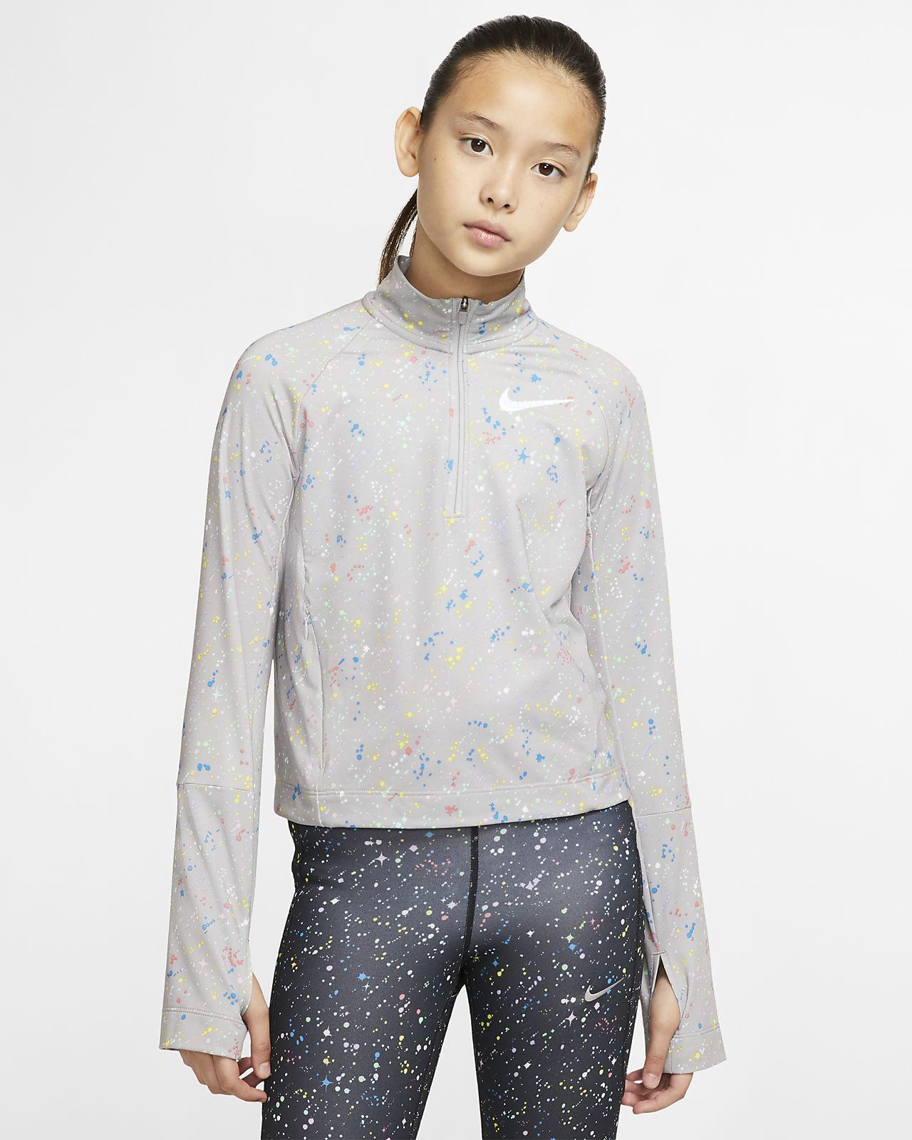 Nike Pro Warm Big Kids' (Girls') Long-Sleeve 1/2-Zip Top