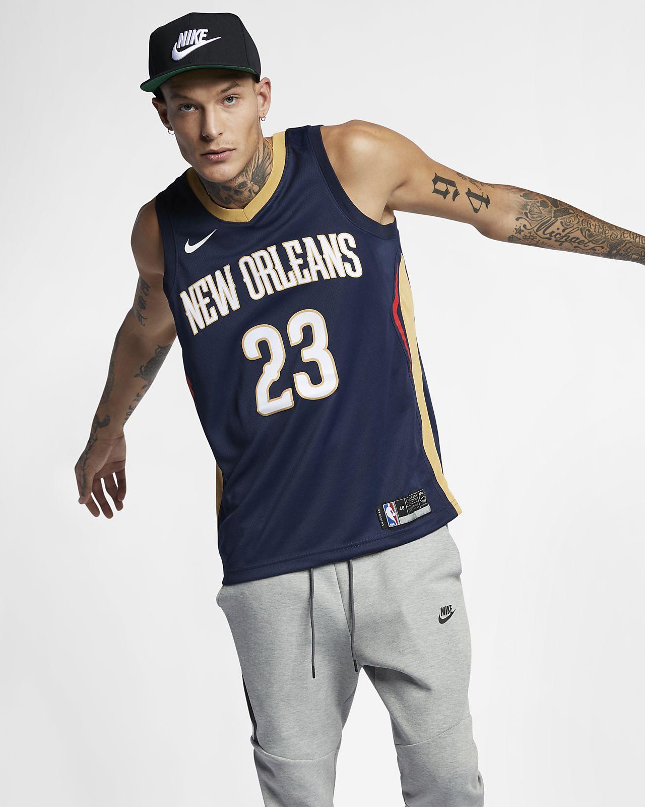 Maillot connecté Nike NBA Anthony Davis (NBA) Icon Edition Swingman (New Orleans Pelicans) pour Homme
