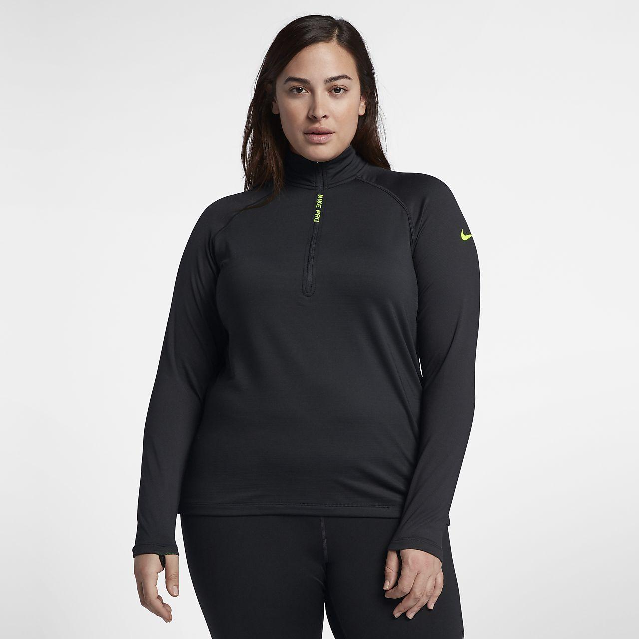 Haut de training à manches longues Nike Pro HyperWarm pour Femme (grande  taille) ada35e556f9e