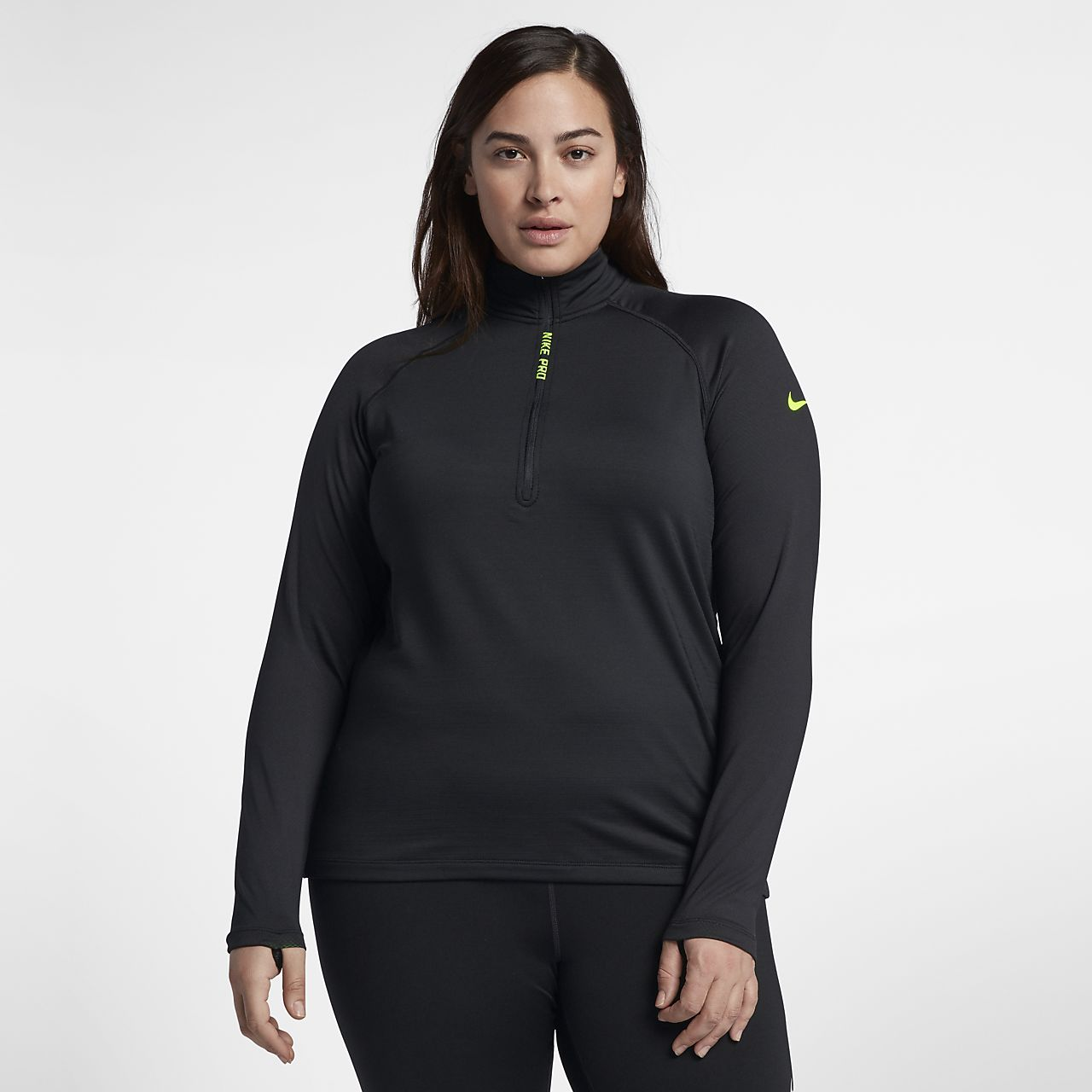 be71c6cb4c Nike Pro HyperWarm (Plus Size) Women s Long-Sleeve Training Top ...